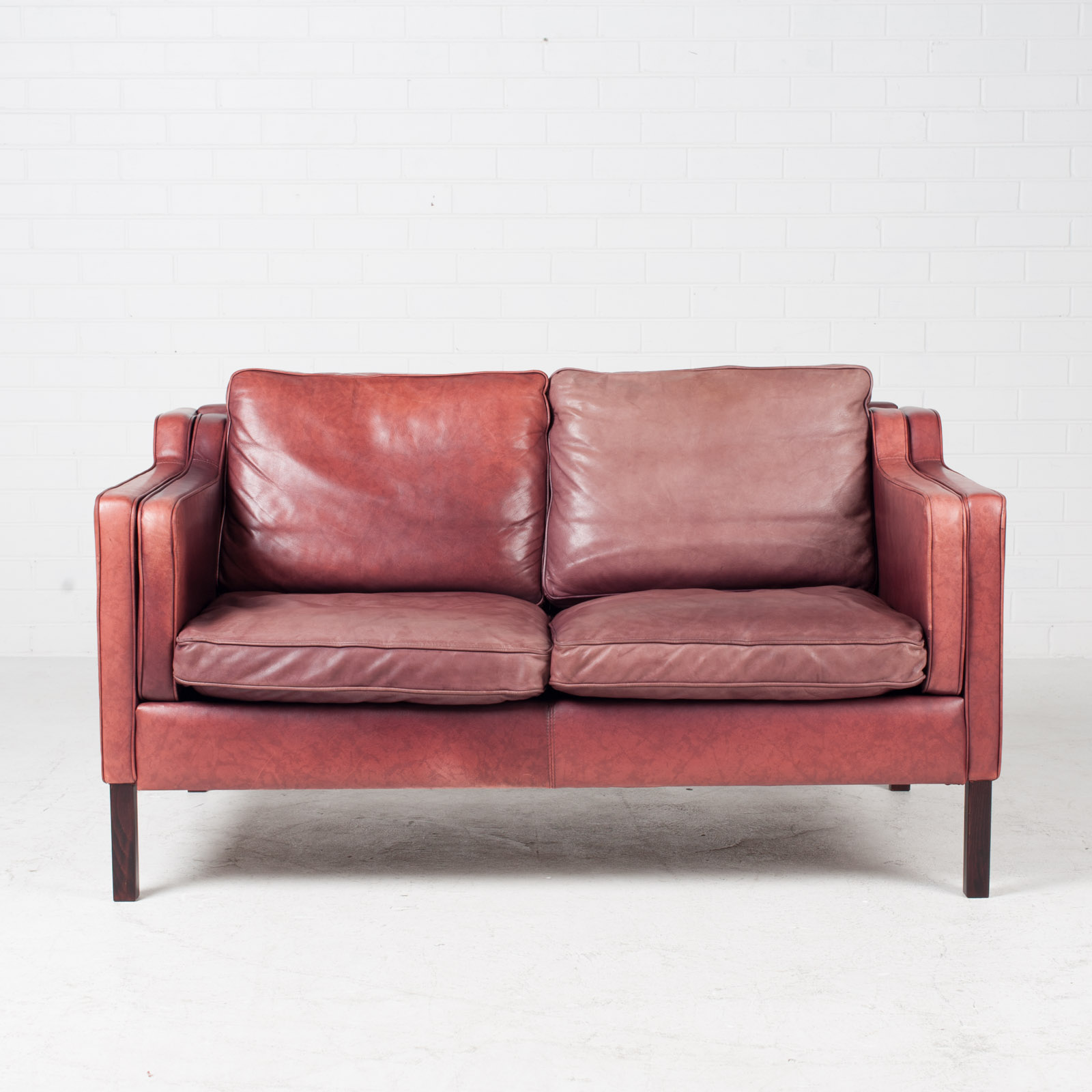 2 Seat Sofa By Stouby In Port Leather 1960s Denmark