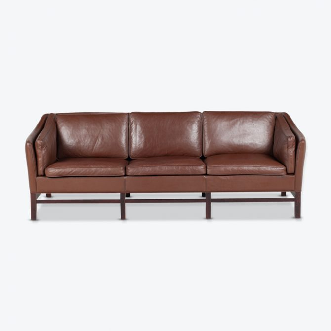 3 Seat Sofa By Grant Mobelfabrik In Chocolate Brown Leather 1960s Denmark Thumb.jpg
