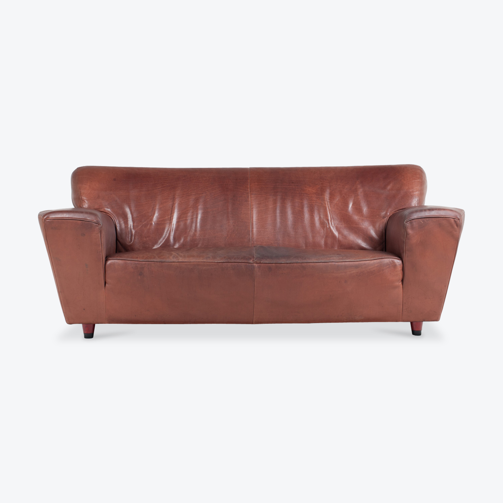 3 Seat Sofa By Montis In Red Leather 1960s Netherlands