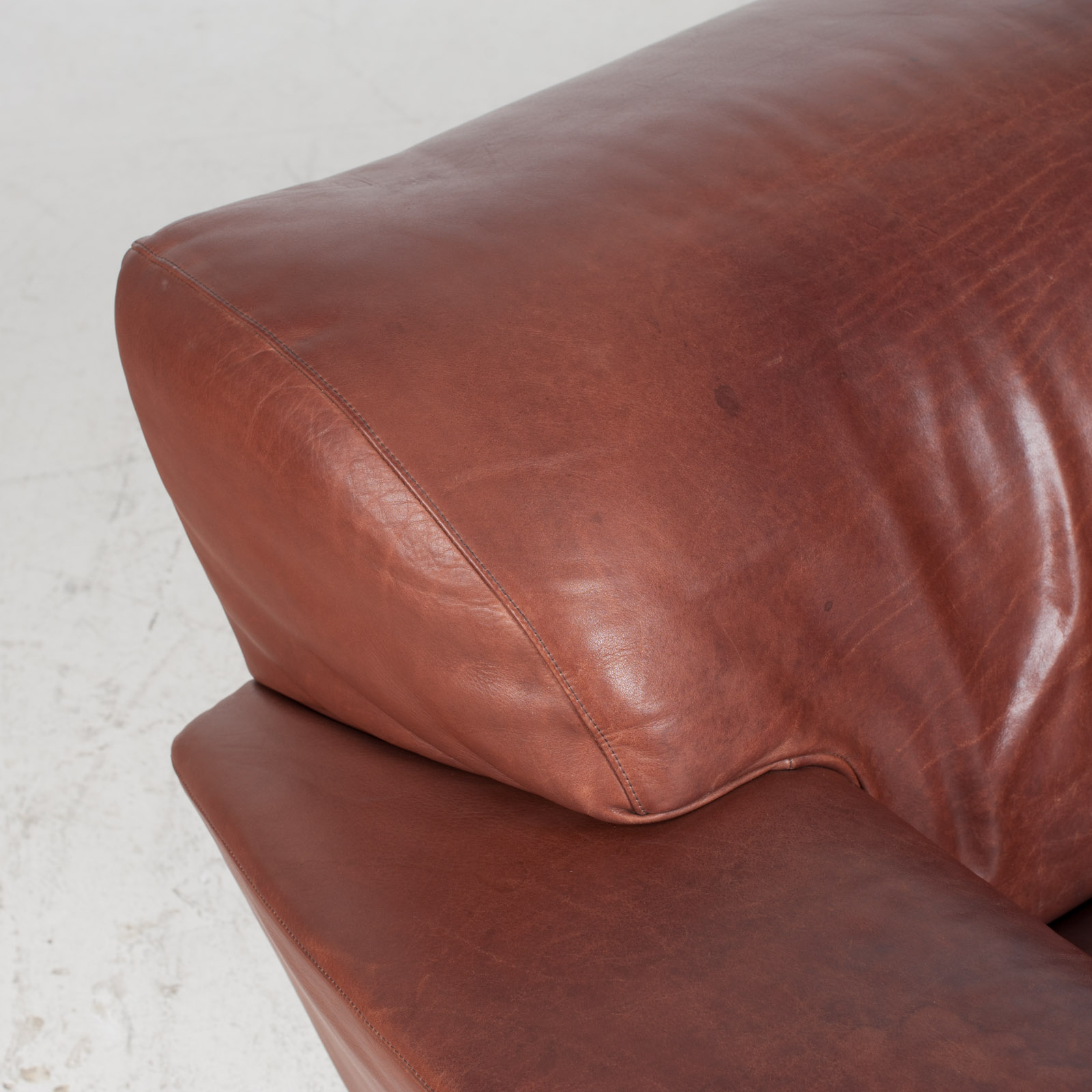 3 Seat Sofa By Montis In Red Leather 1960s Netherlands 04