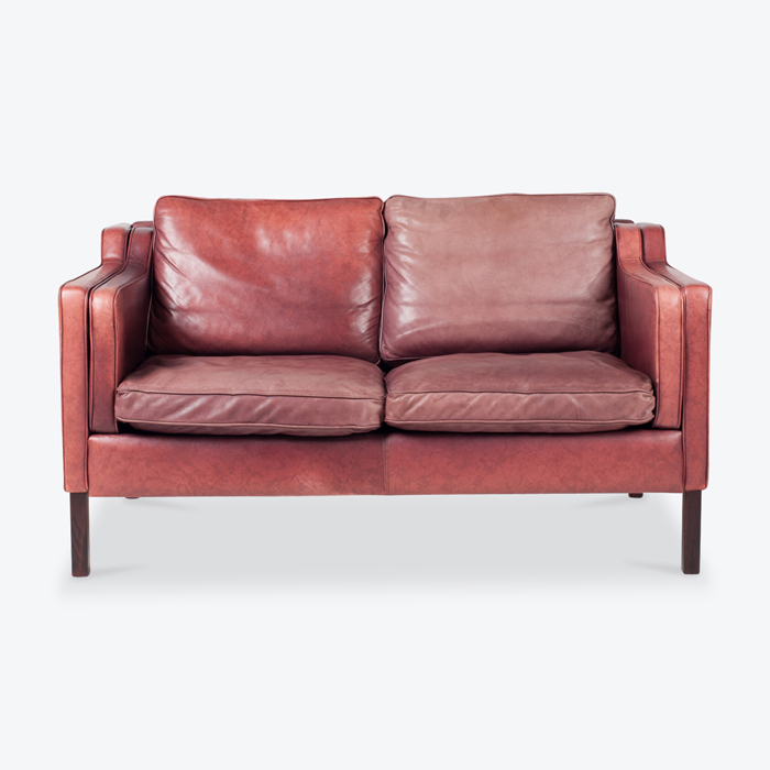2 Seat Sofa By Stouby In Port Leather 1960s Denmark Thumb.jpg