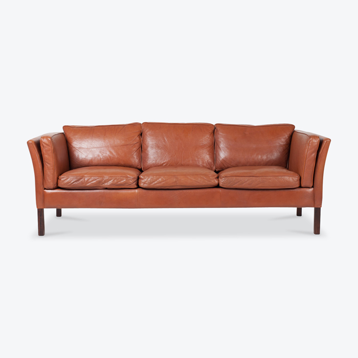 3 Seat Sofa In Tan Leather 1960s Denmark Thumb.jpg