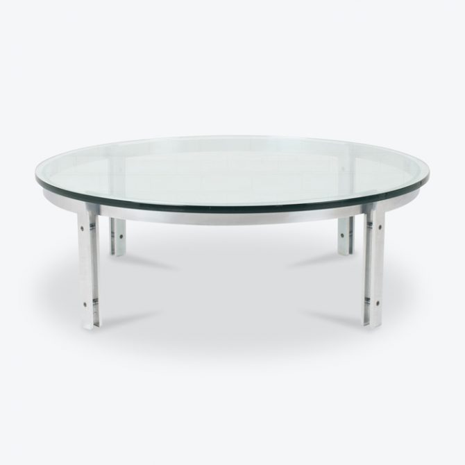 Coffee Table By Metaform With Steel Frame And Glass 1970s Netherlands Thumb.jpg
