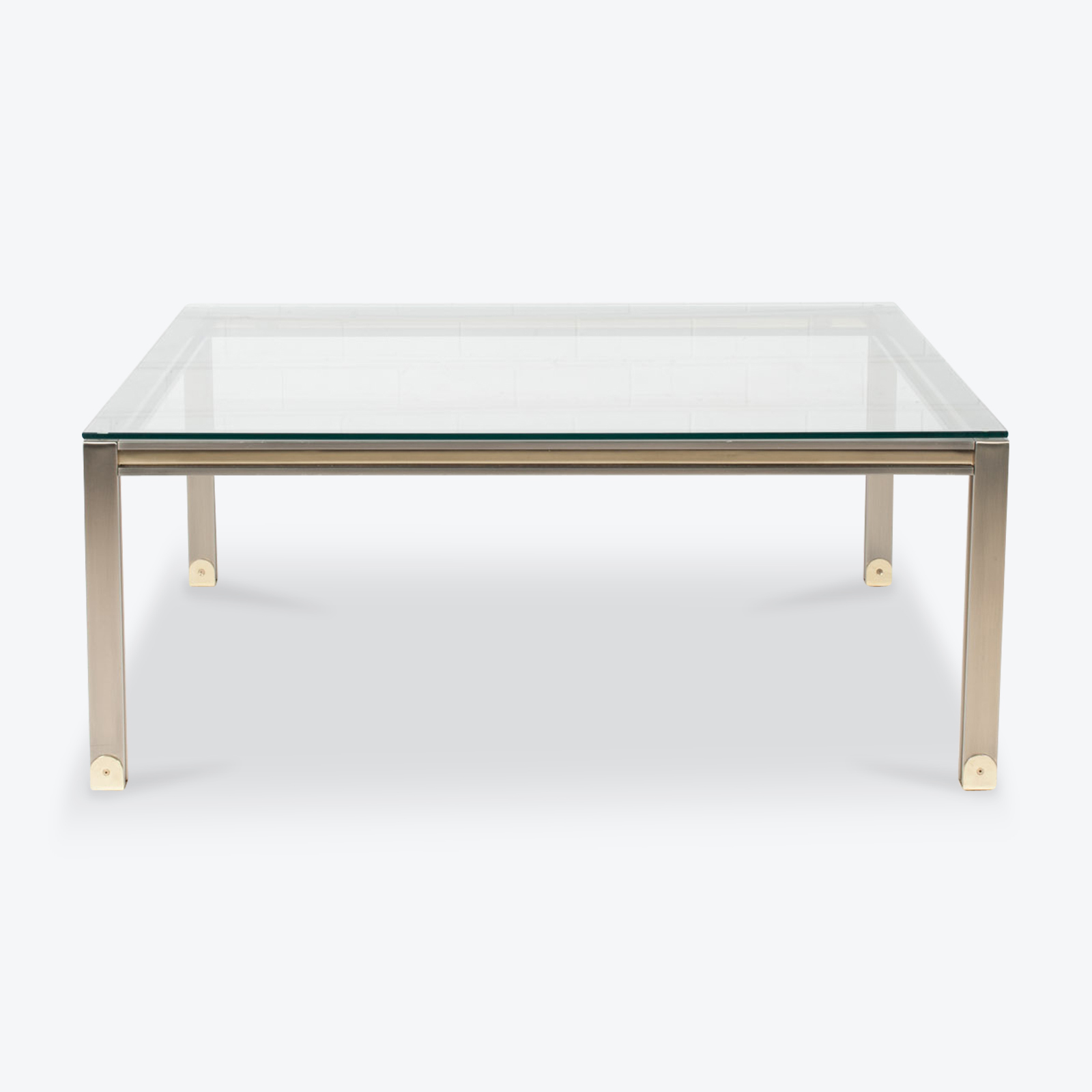 Coffee Table By Romeo Rega In Chrome And Brass 1970s Italy 01