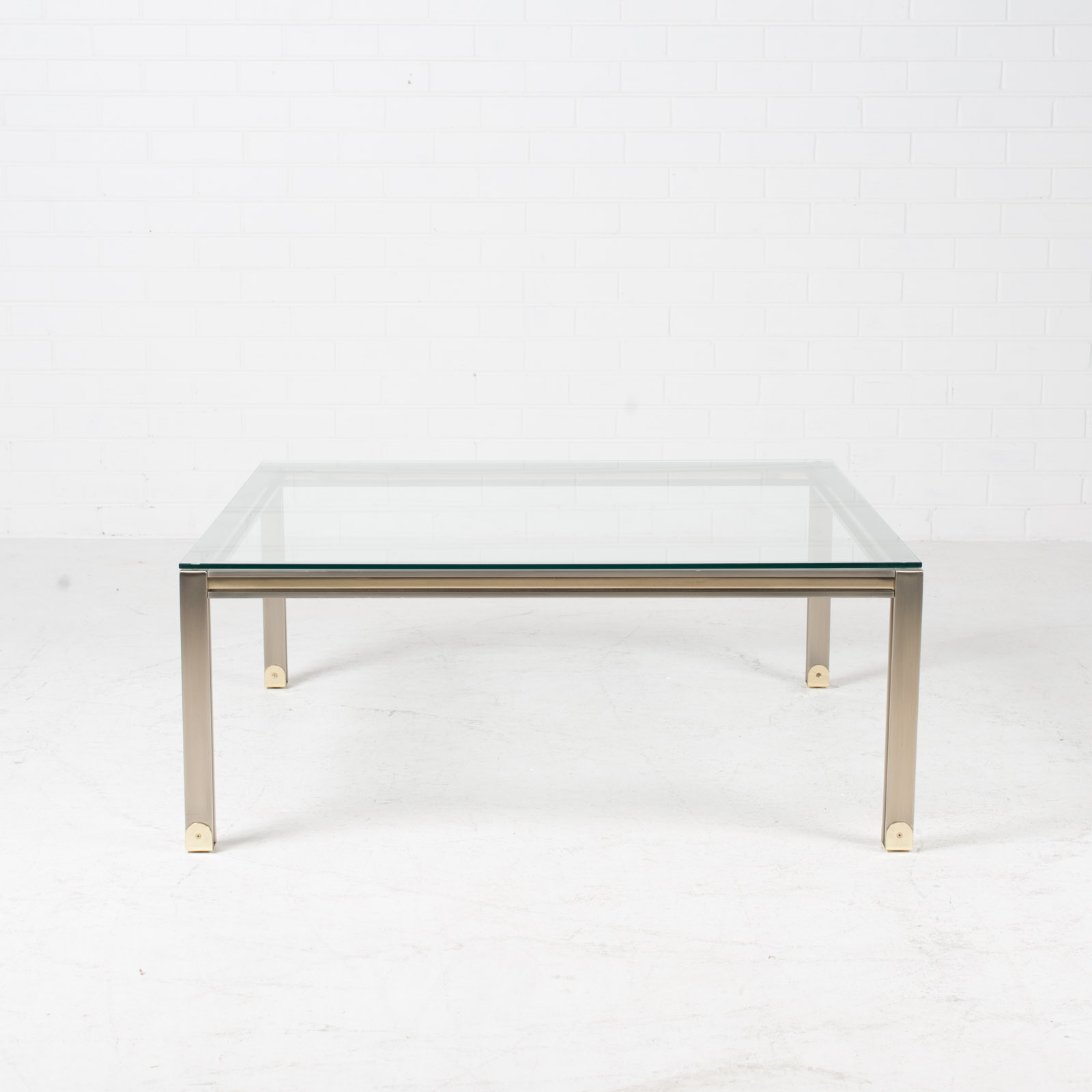 Coffee Table By Romeo Rega In Chrome And Brass 1970s Italy 02