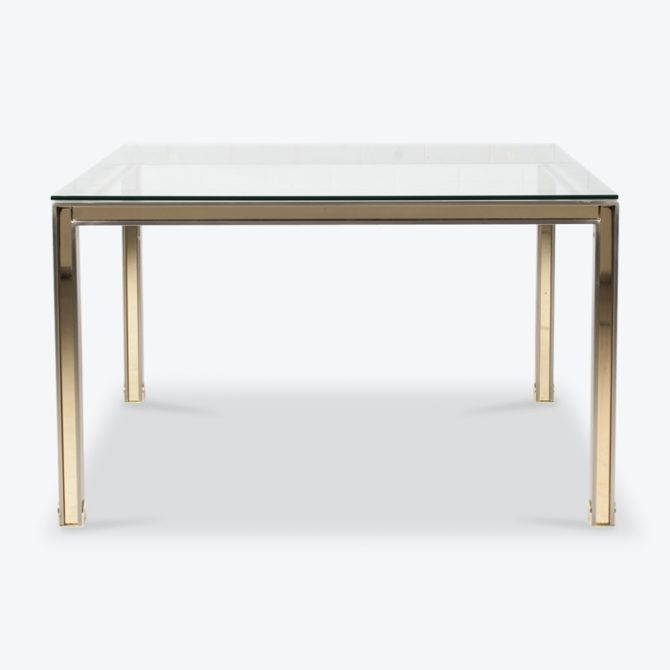Dining Table By Romeo Rega In Chrome And Brass 1970s Italy Thumb.jpg