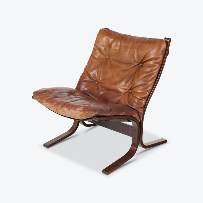 Lowback Siesta Armchair By Ingmar Relling In Patinated Brown Leather 1960s Netherlands Thumb3