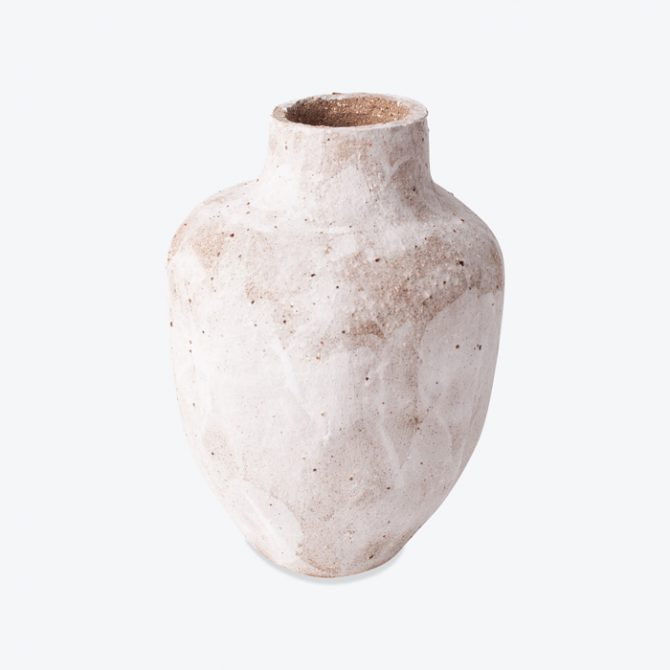 Medium Caesia Gum Vessel In Dark Stoneware With White Glaze By Dasa Thumb.jpg