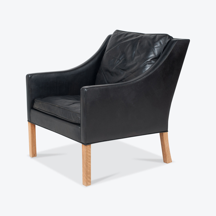 Model 2207 Armchair By Borge Mogensen For Fredericia In Black Leather 1960s Denmark 03 1 Thumb