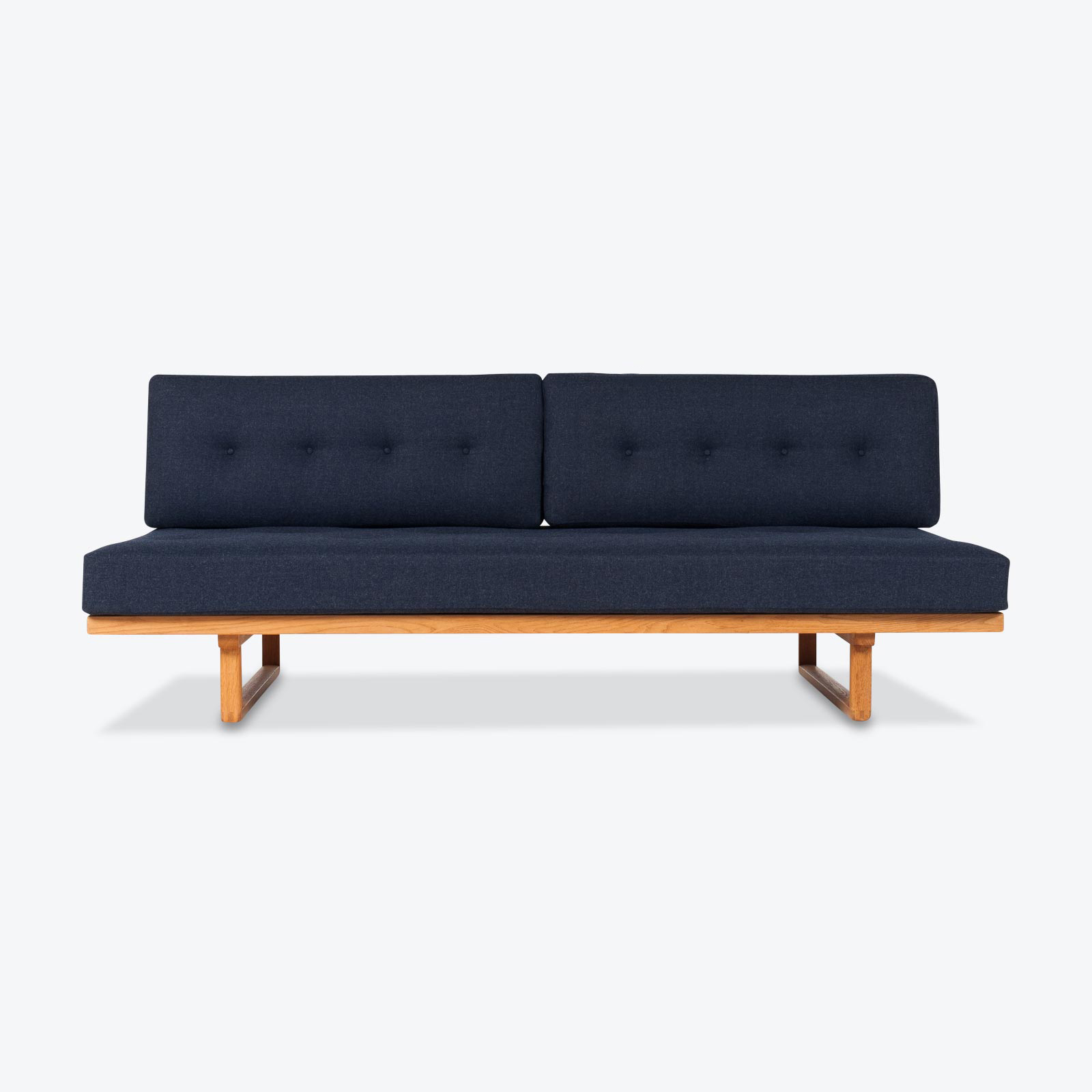 Model 4312 Daybed By Borge Mogensen In Oak Manufactured By Fredericia Furniture 1950s Denmark 01