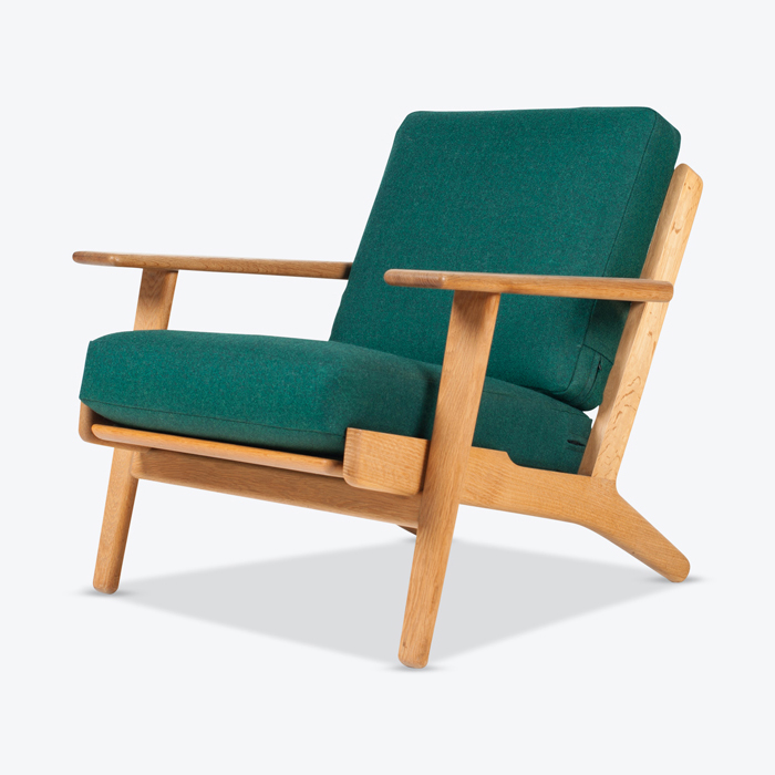 Model Ge 290 Plank Easy Chair By Hans Wegner For Getama In Green Upholstery 1953 Denmark Thumb.jpg