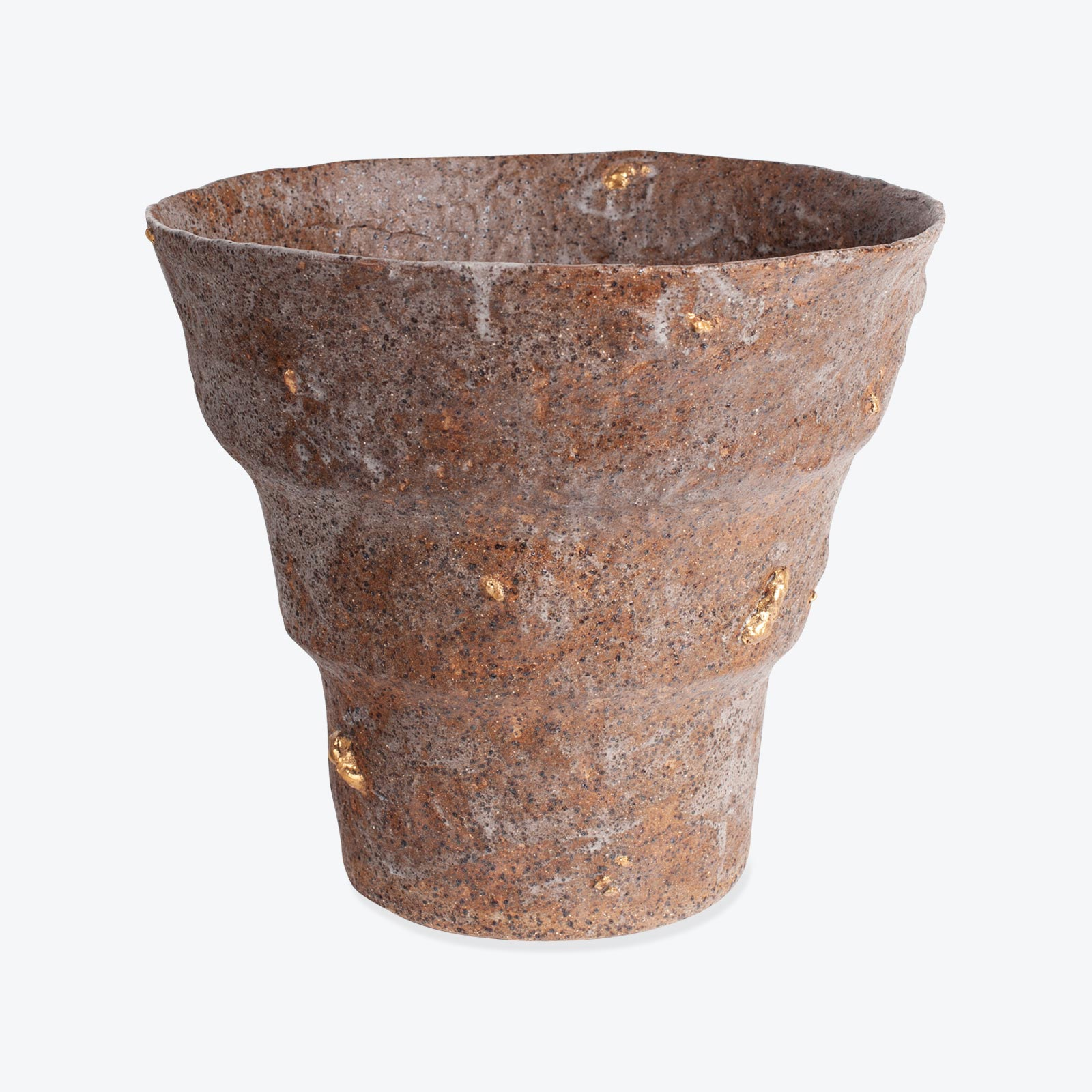 Planter In Glazed Stoneware With 24k Gold By Claudia Lau 01