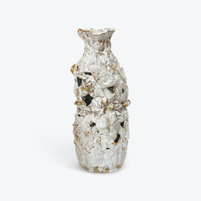 Rock Bottle In Glazed Stoneware With Lustre By Tessy King Thumb.jpg