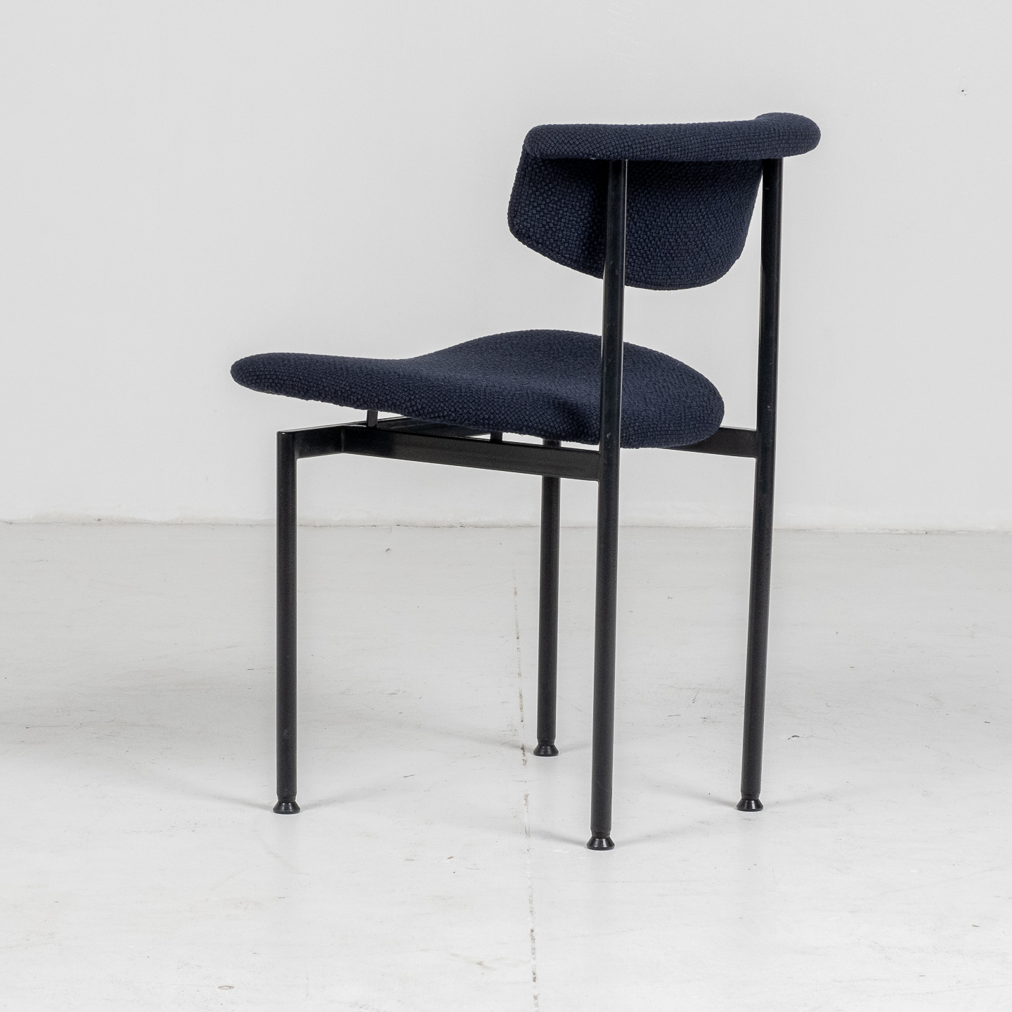 Set Of Four Meander Alpha Dining Chairs By Rudolf Wolf For Gaasbeek & Van Tiel In New Kvadart Upholstery, 1960s, The Netherlands70