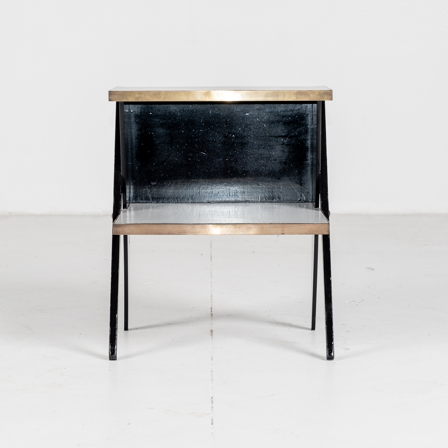 Side Table In The Style Of De Stijl In Brass And Laminate With Ebonised Finish, 1930s, The Netherlands296