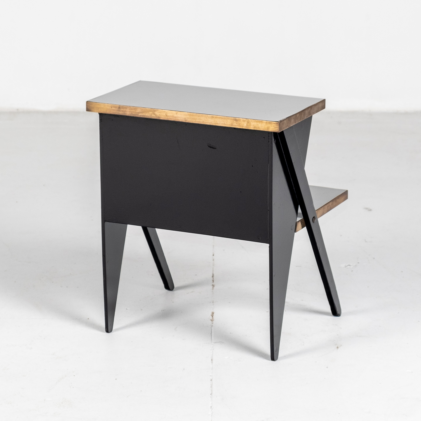 Side Table In The Style Of De Stijl In Brass And Laminate With Ebonised Finish, 1930s, The Netherlands304