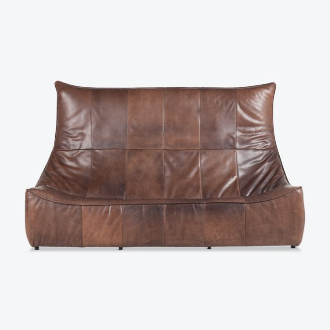 The Rock 3 Seat Sofa By Gerard Van Den Berg For Montis In Brown Leather 1960s Netherlands Thumb.jpg