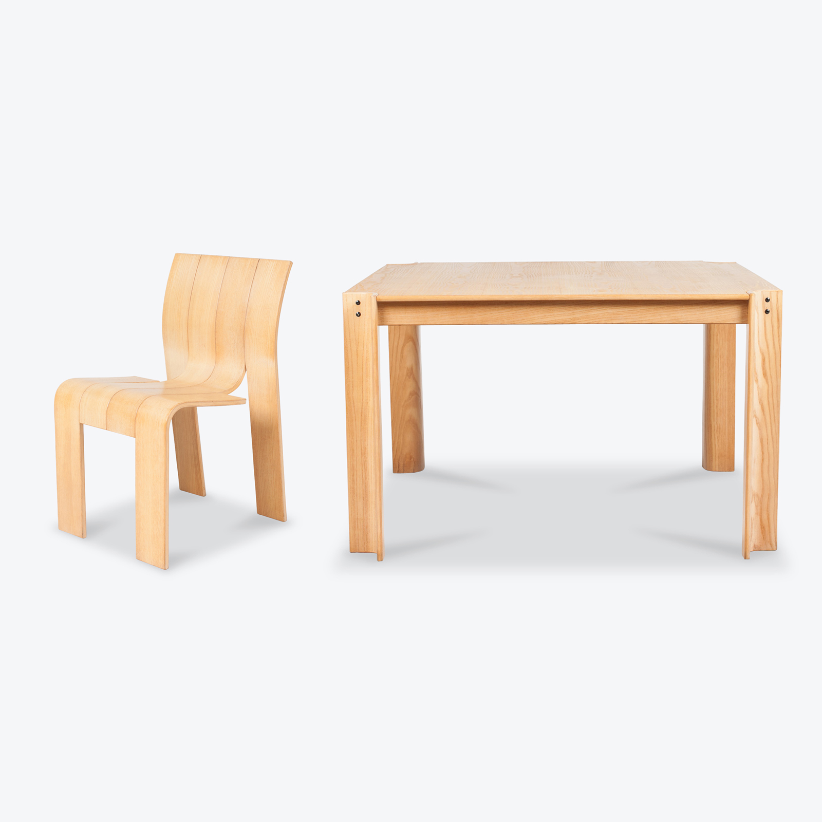 The 'strip' Dining Table And Chairs By Gijs Bakker For Castelijn In Oak 1960s Netherlands 05