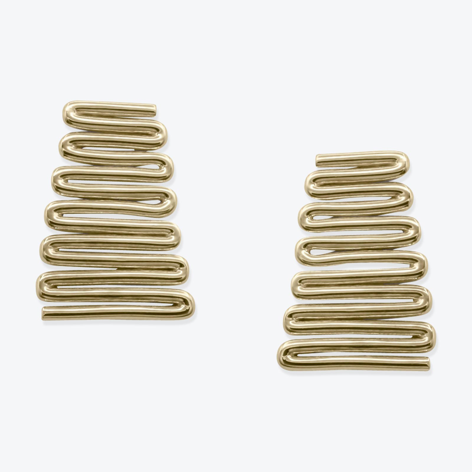 Zag Earrings In Sterling Silver 23.9k Gold Plated By Toyah Perry 01