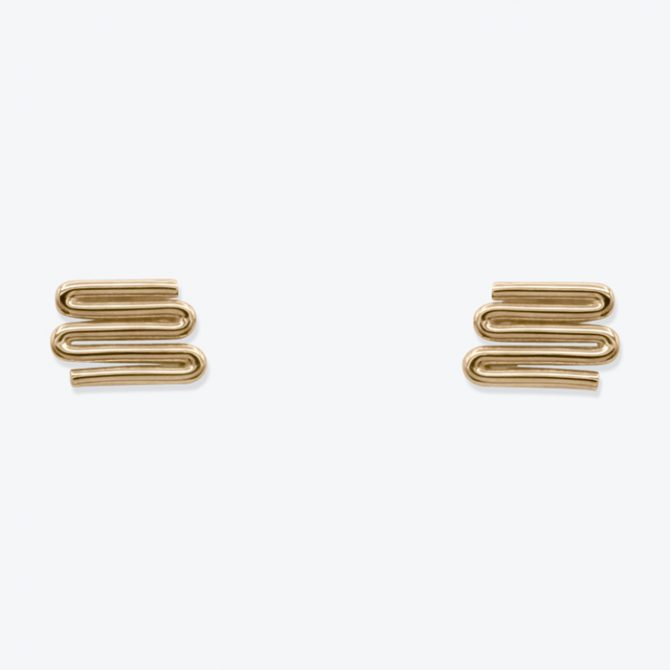 Zig Earrings In Sterling Silver 23.9k Gold Plated By Toyah Perry Thumb.jpg