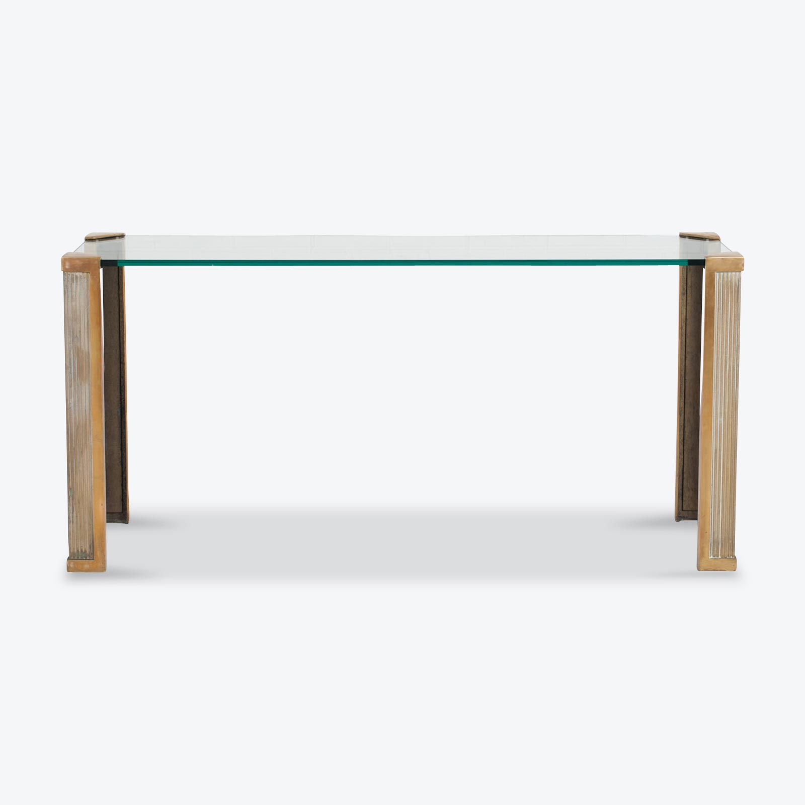 Console By Peter Ghyczy In Brass And Glass 1970s Netherlands.jpg