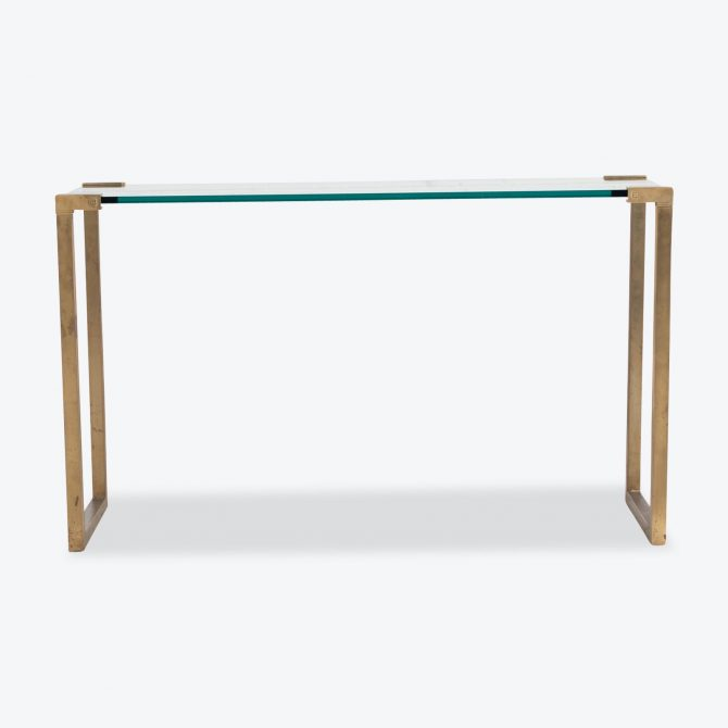 Console By Peter Ghyczy In Brass With Glass 1970s Netherlands 01.jpg