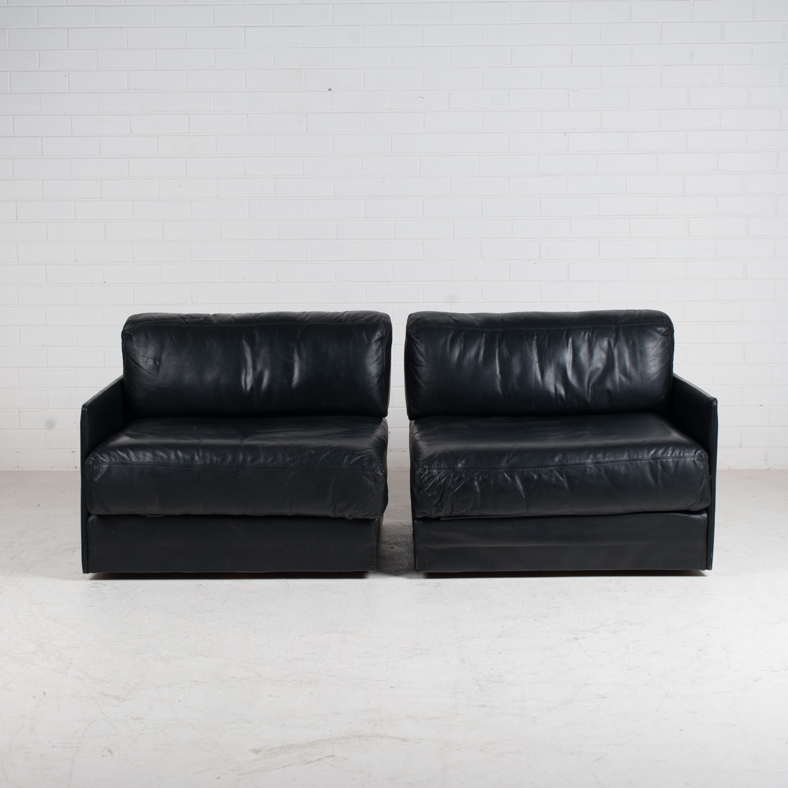 Ds 76 2 Seat Sofa By De Sede In Black Leather 1970s Switzerland 02