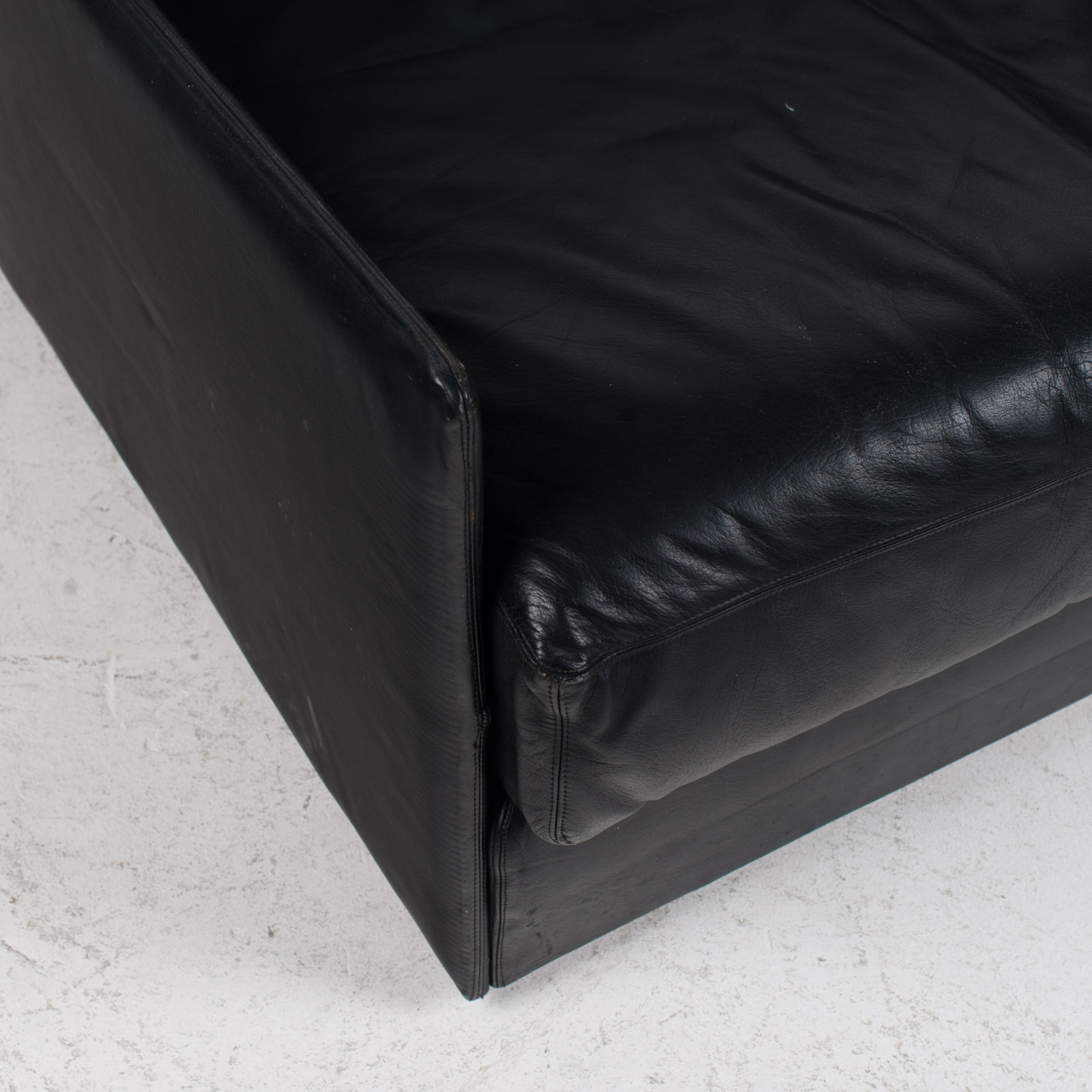 Ds 76 2 Seat Sofa By De Sede In Black Leather 1970s Switzerland 04