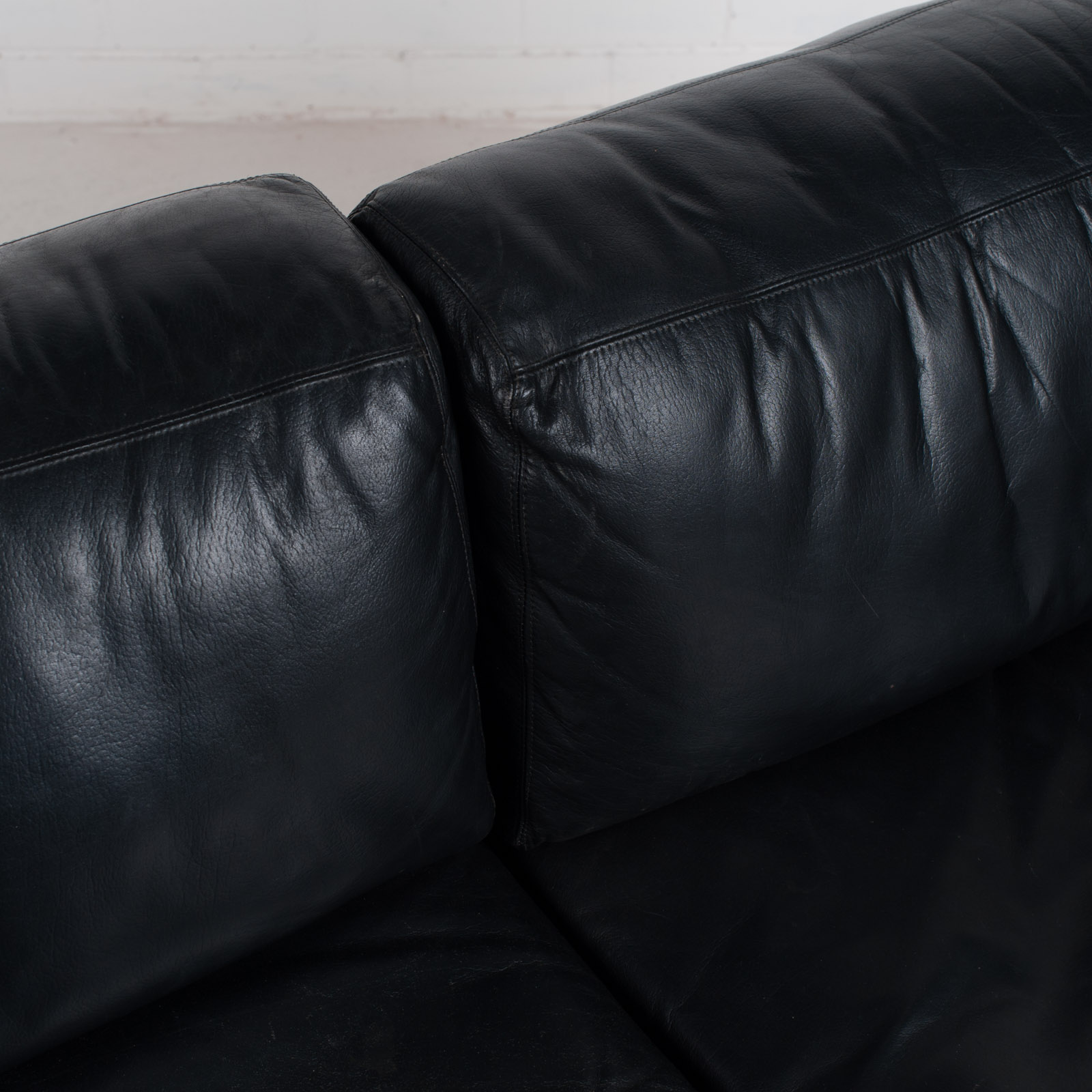 Ds 76 2 Seat Sofa By De Sede In Black Leather 1970s Switzerland 06