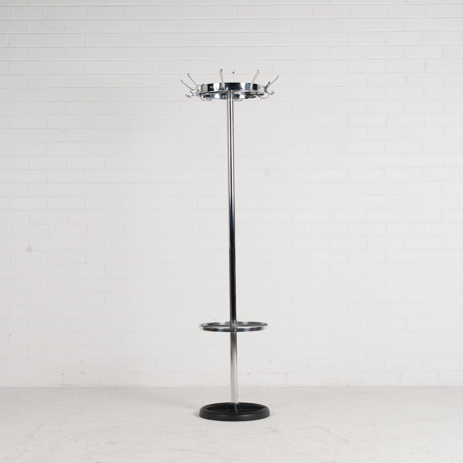 Industrial Coat Stand By Gispen In Chrome 1950s Netherlands 02