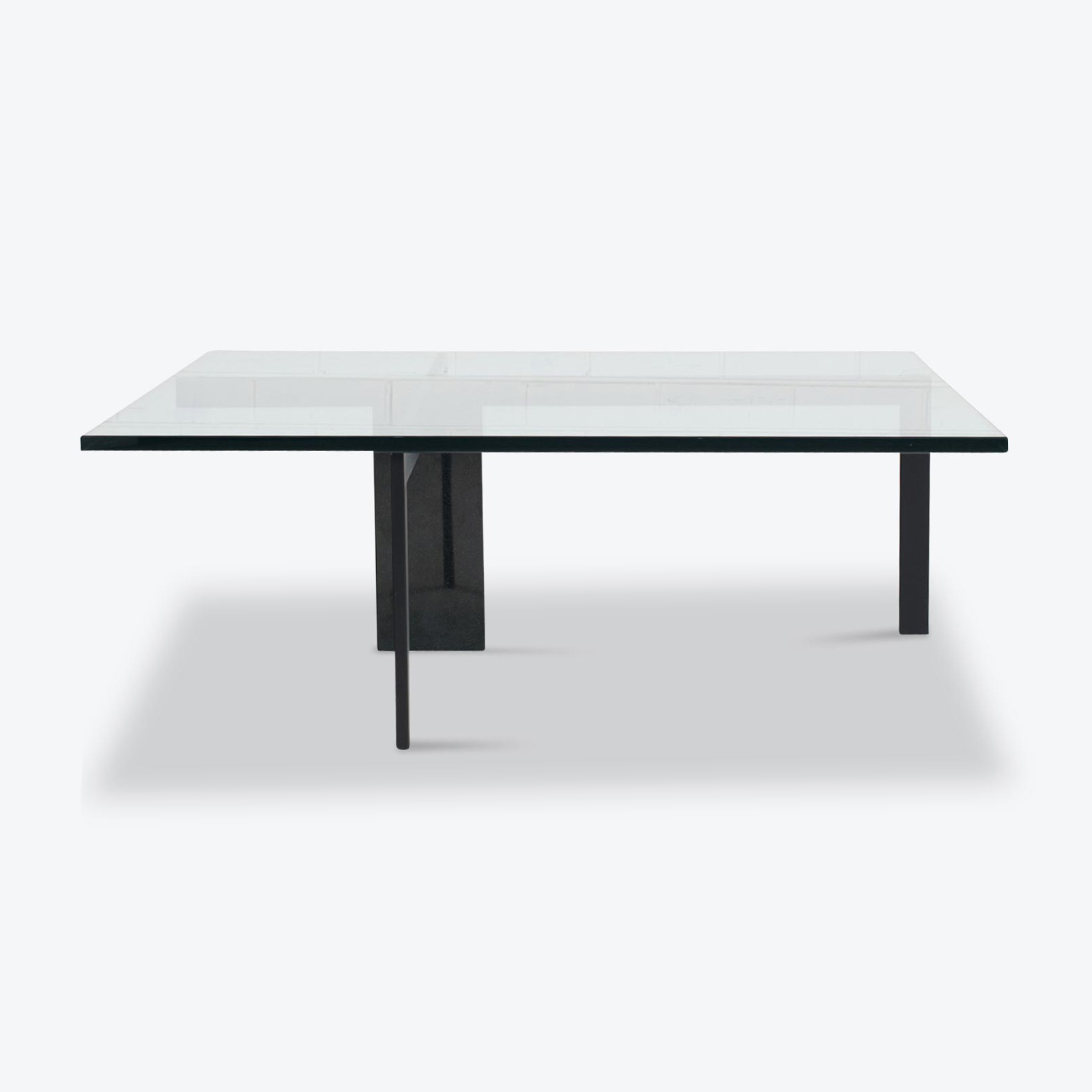 Kw 1 Coffee Table By Hank Kwint For Metaform In Glass With Black