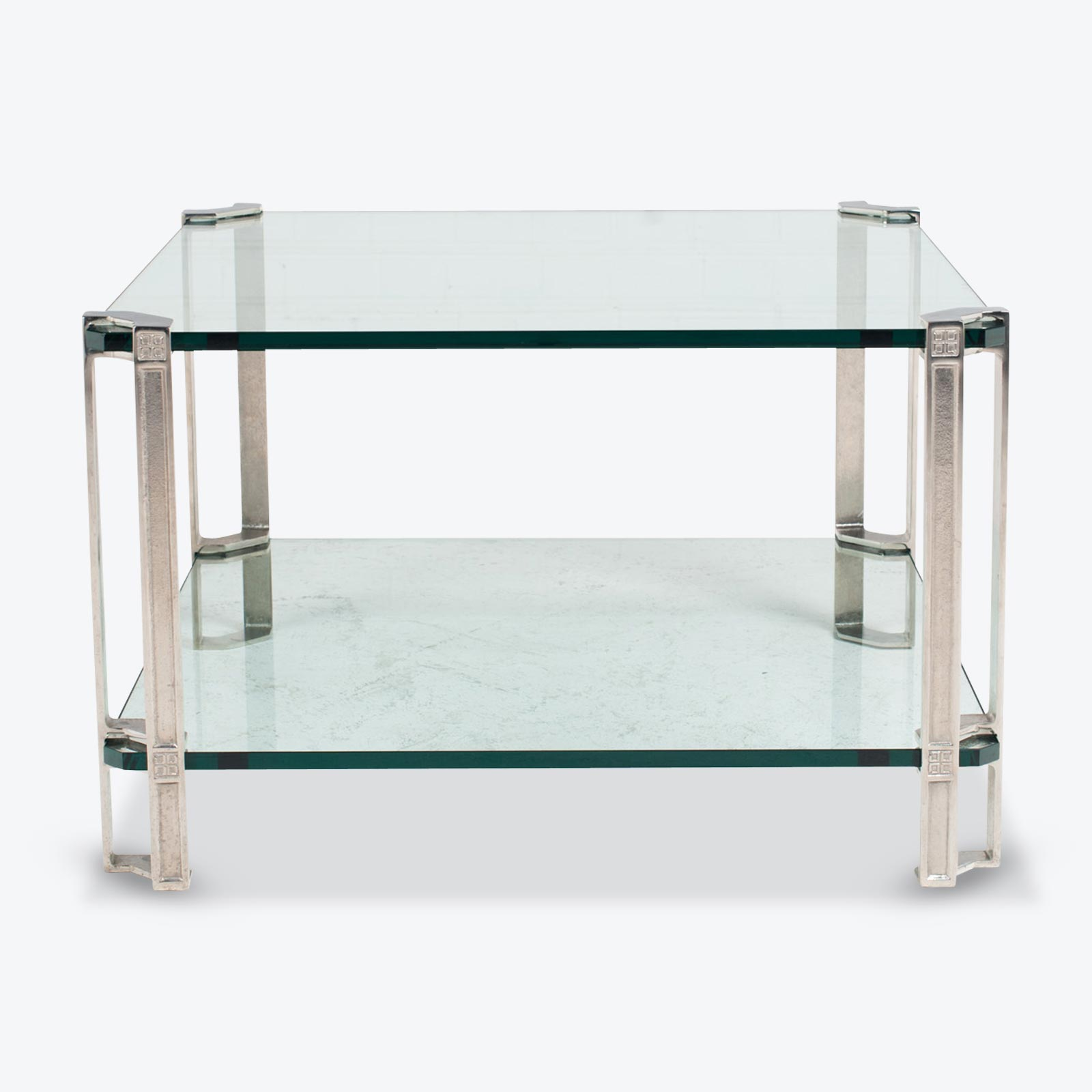 Large Side Table By Peter Ghyczy In Brass And Glass 1970s Netherlands.jpg