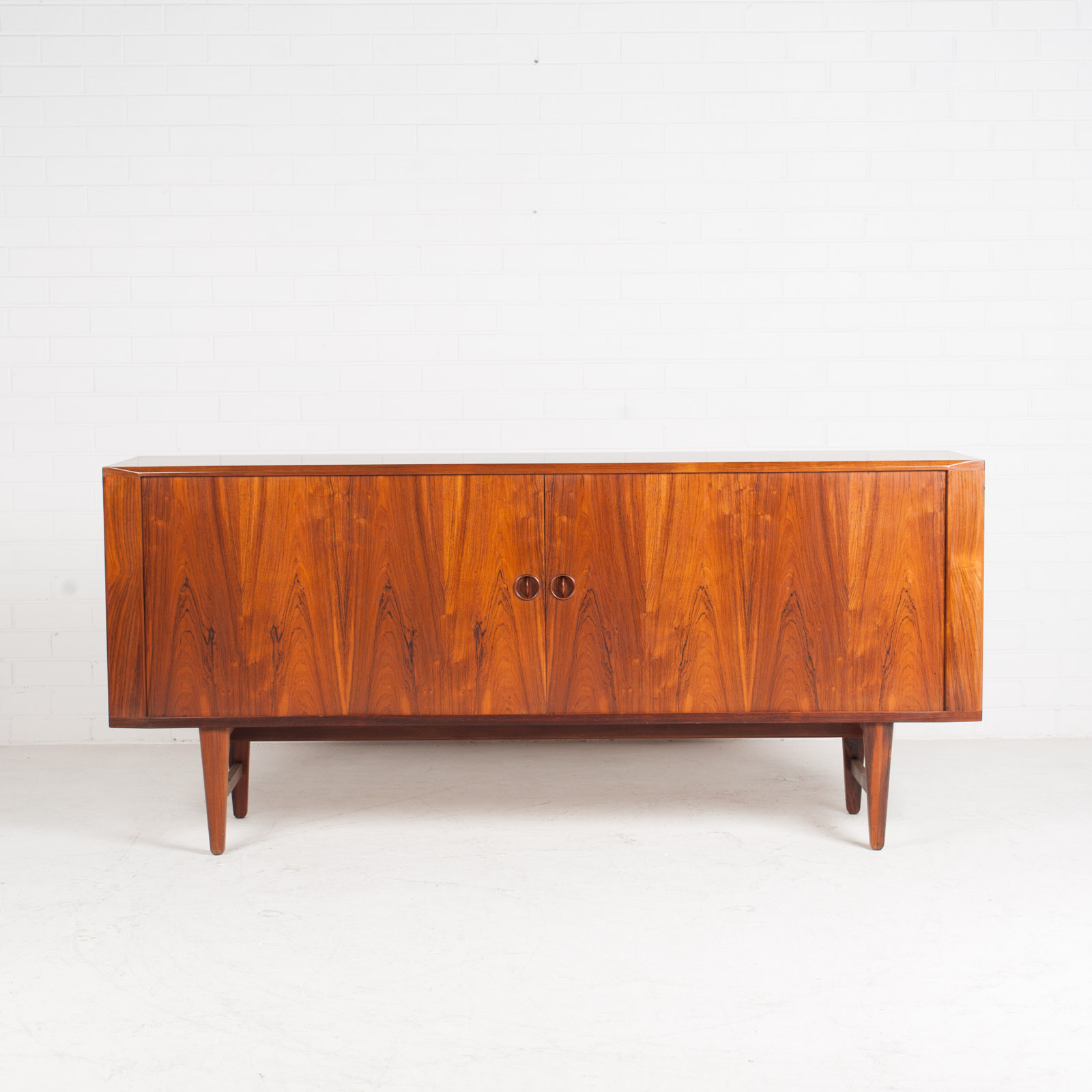 Large Sideboard In Rosewood With Tambour Doors 1960s Denmark 02