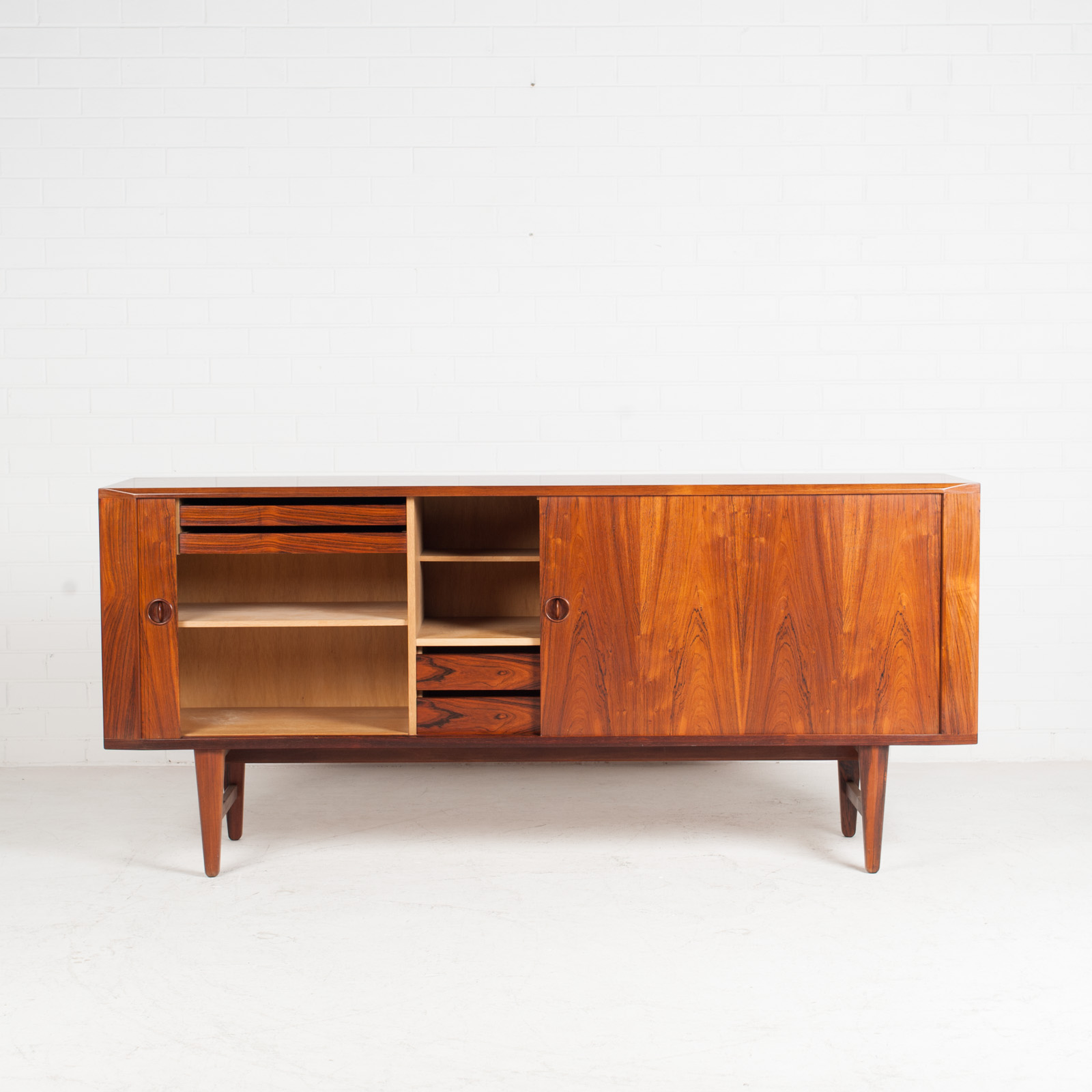 Large Sideboard In Rosewood With Tambour Doors 1960s Denmark 03