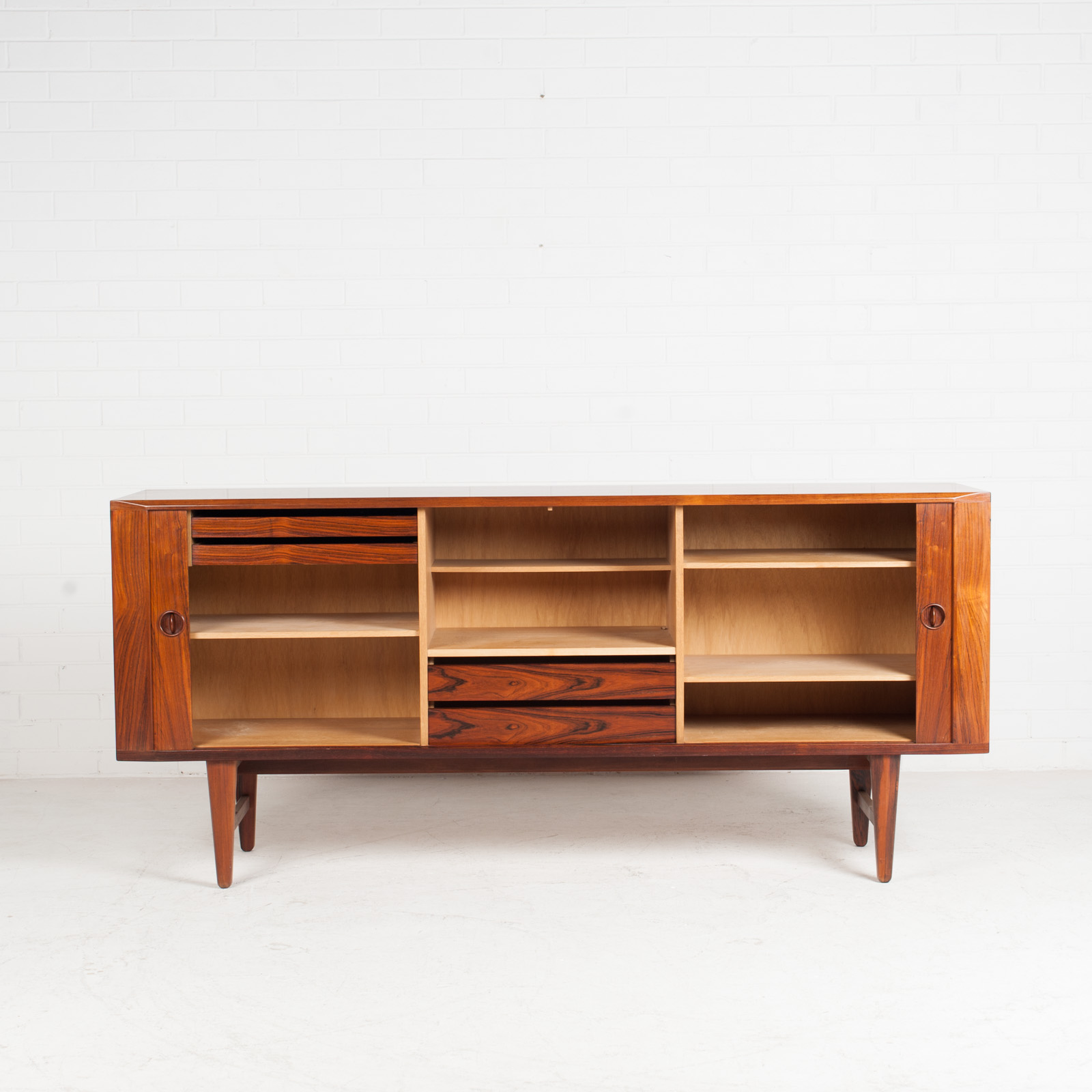 Large Sideboard In Rosewood With Tambour Doors 1960s Denmark 04