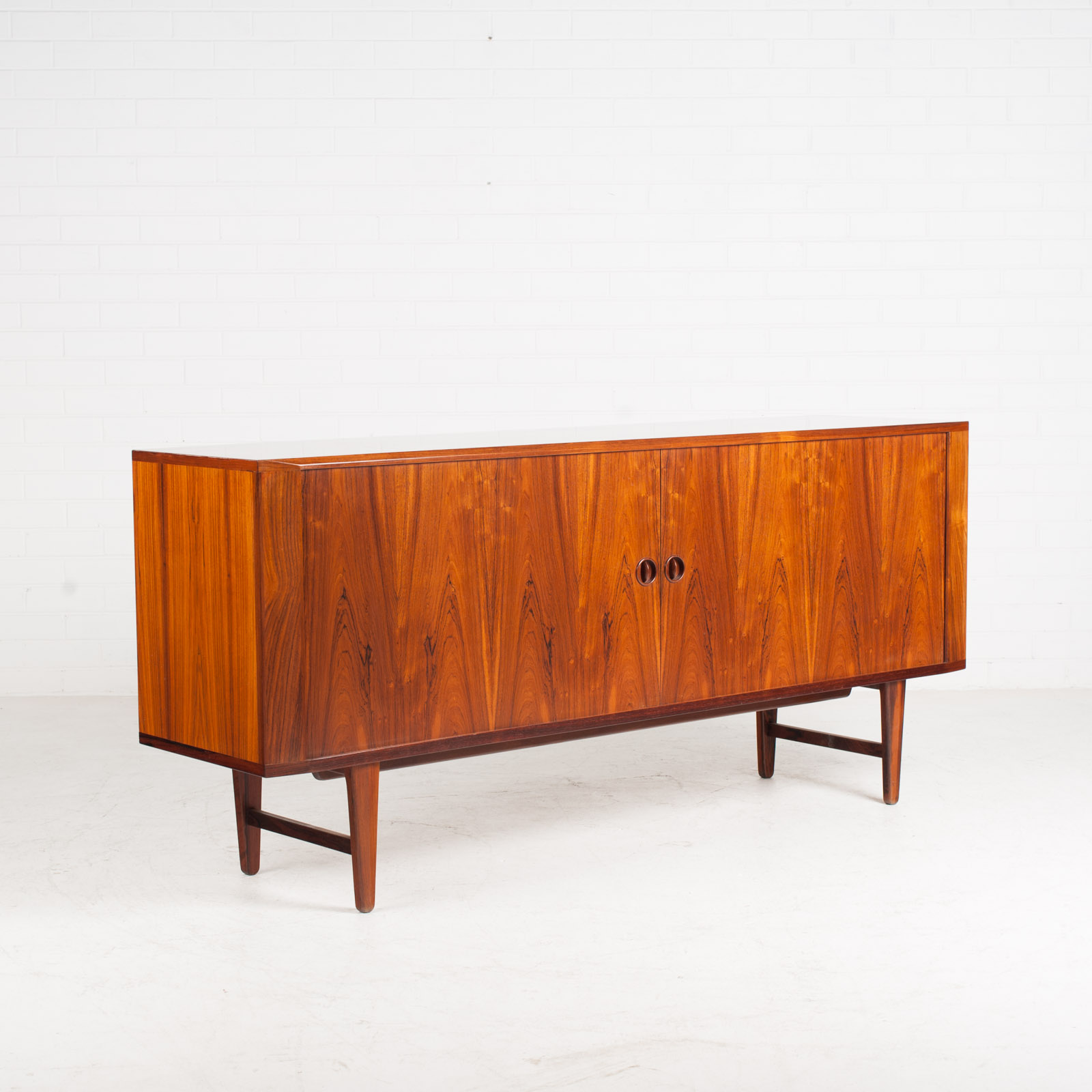 Large Sideboard In Rosewood With Tambour Doors 1960s Denmark 05