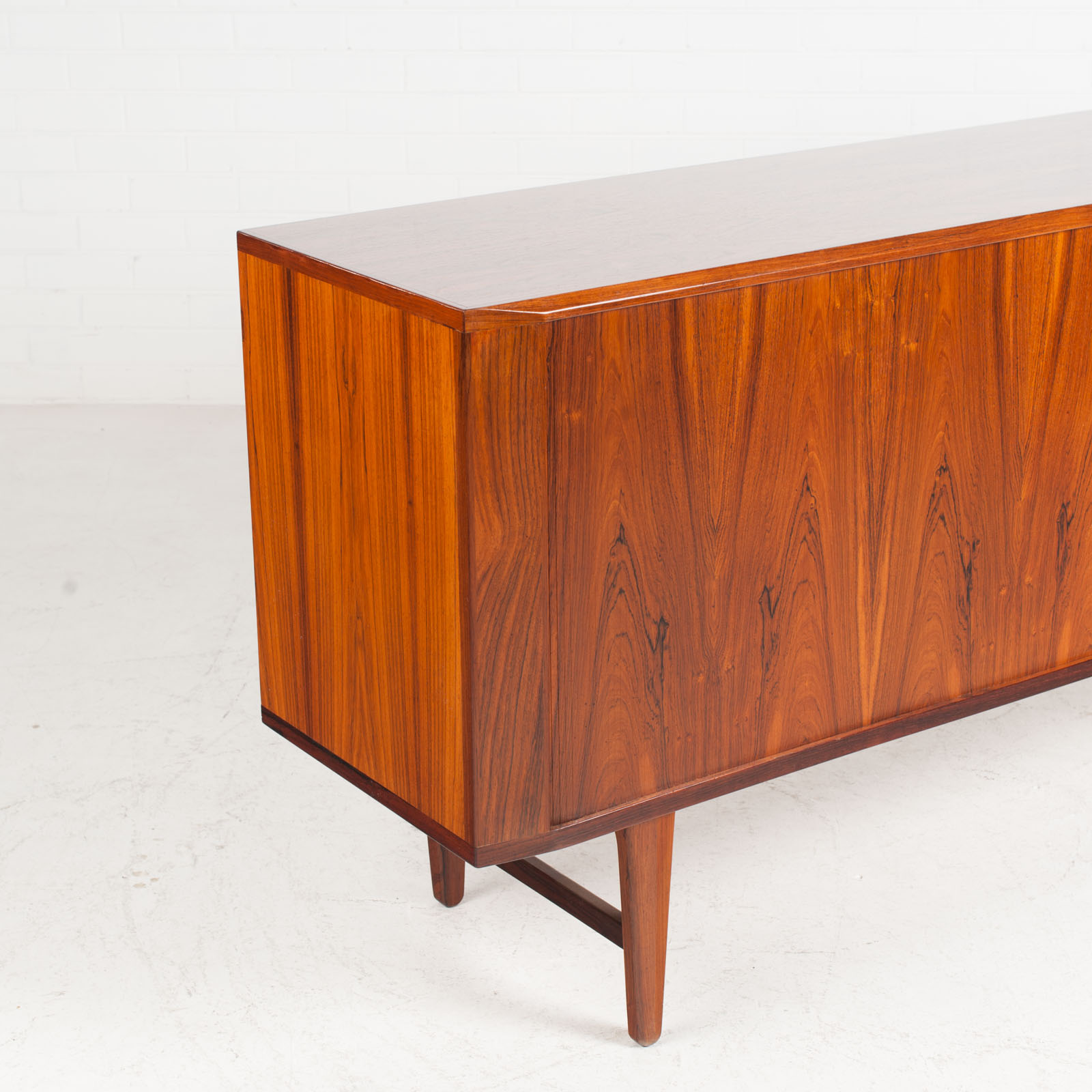 Large Sideboard In Rosewood With Tambour Doors 1960s Denmark 06