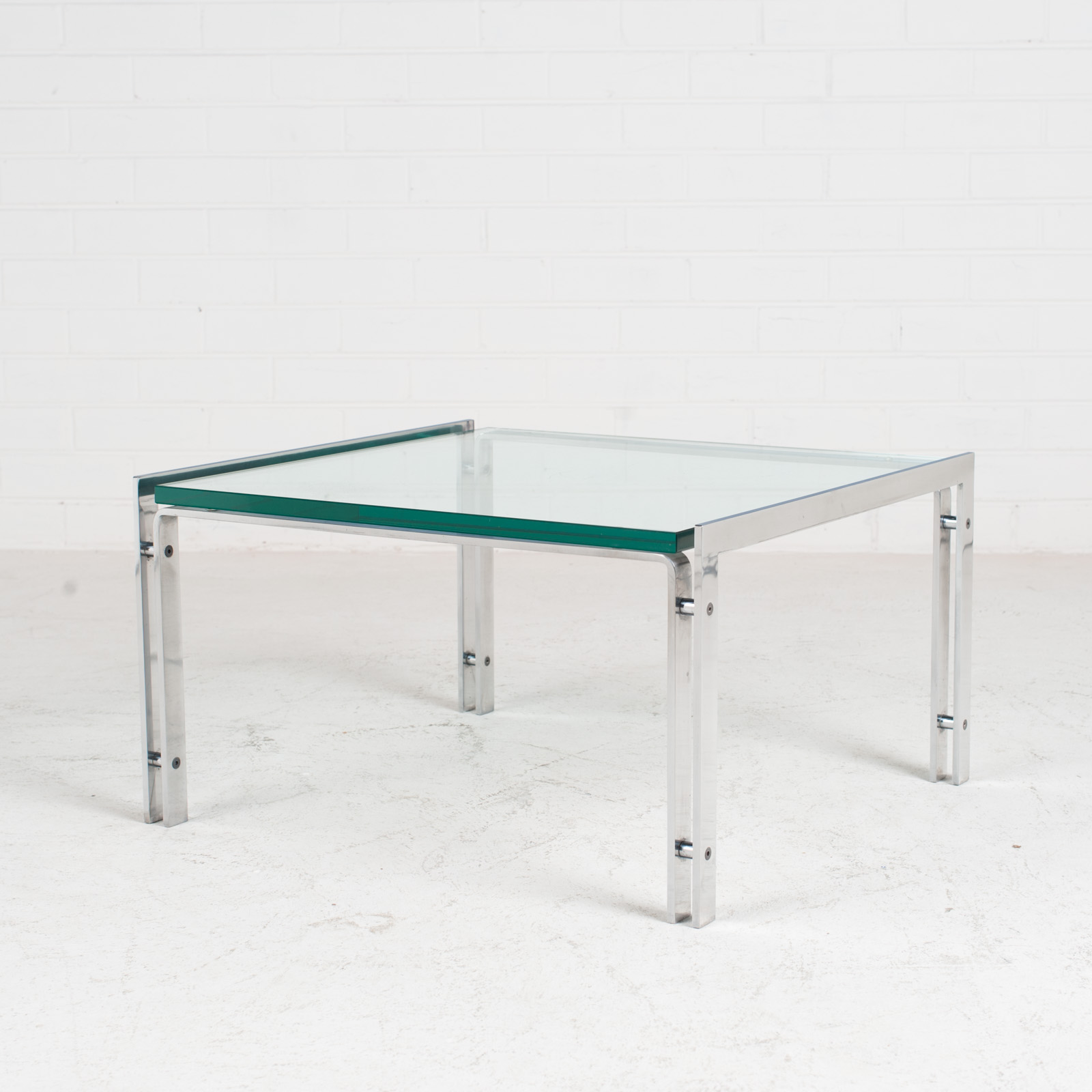 M1 Coffee Table By Hank Kwint For Metaform In Chrome 1970s Netherlands 02