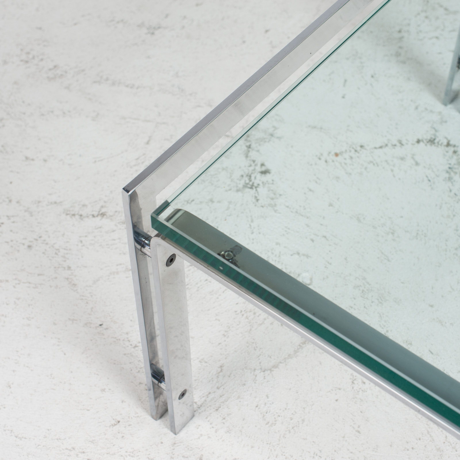 M1 Coffee Table By Hank Kwint For Metaform In Chrome 1970s Netherlands 04