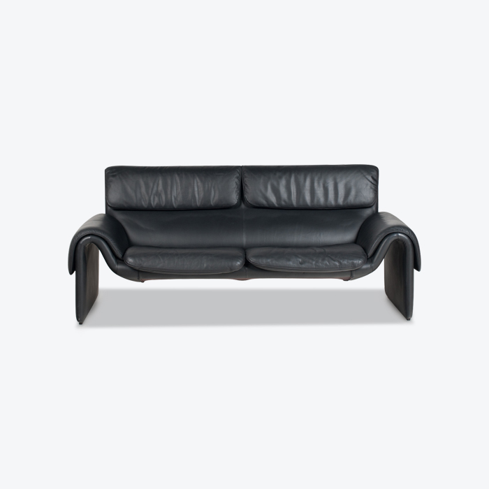 Model Ds 2011 2 Seat Sofa By De Sede In Black Leather 1970s Switzerland Thumb.jpg