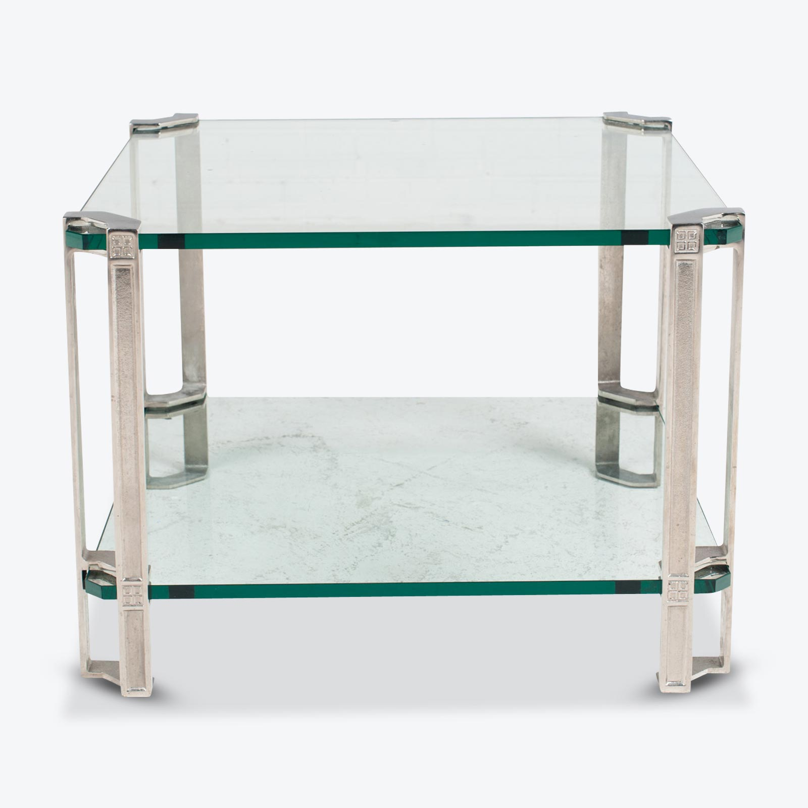 Small Side Table By Peter Ghyczy In Brass And Glass 1970s Netherlands.jpg
