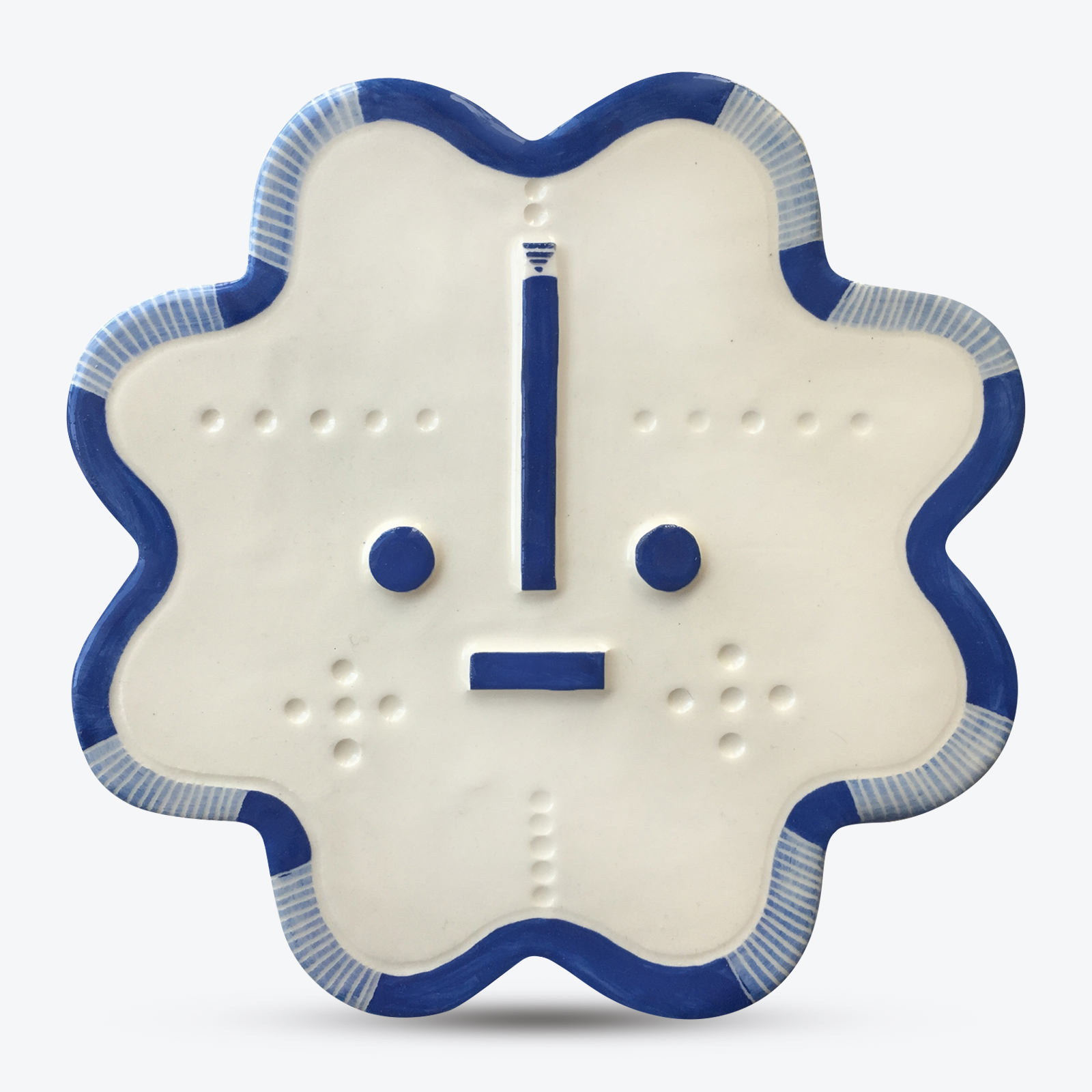 Carmalita Songsung Blue Ceramic Face Wall Hanging By Louise Kyriakou 00.jpg