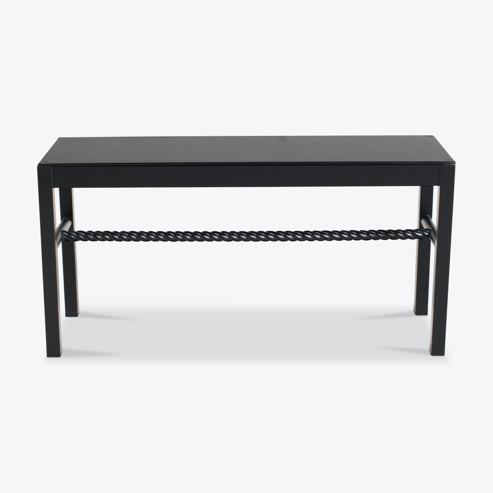 Chubby Bench In Black Powder Coated Steel By Steelotto 4.jpg