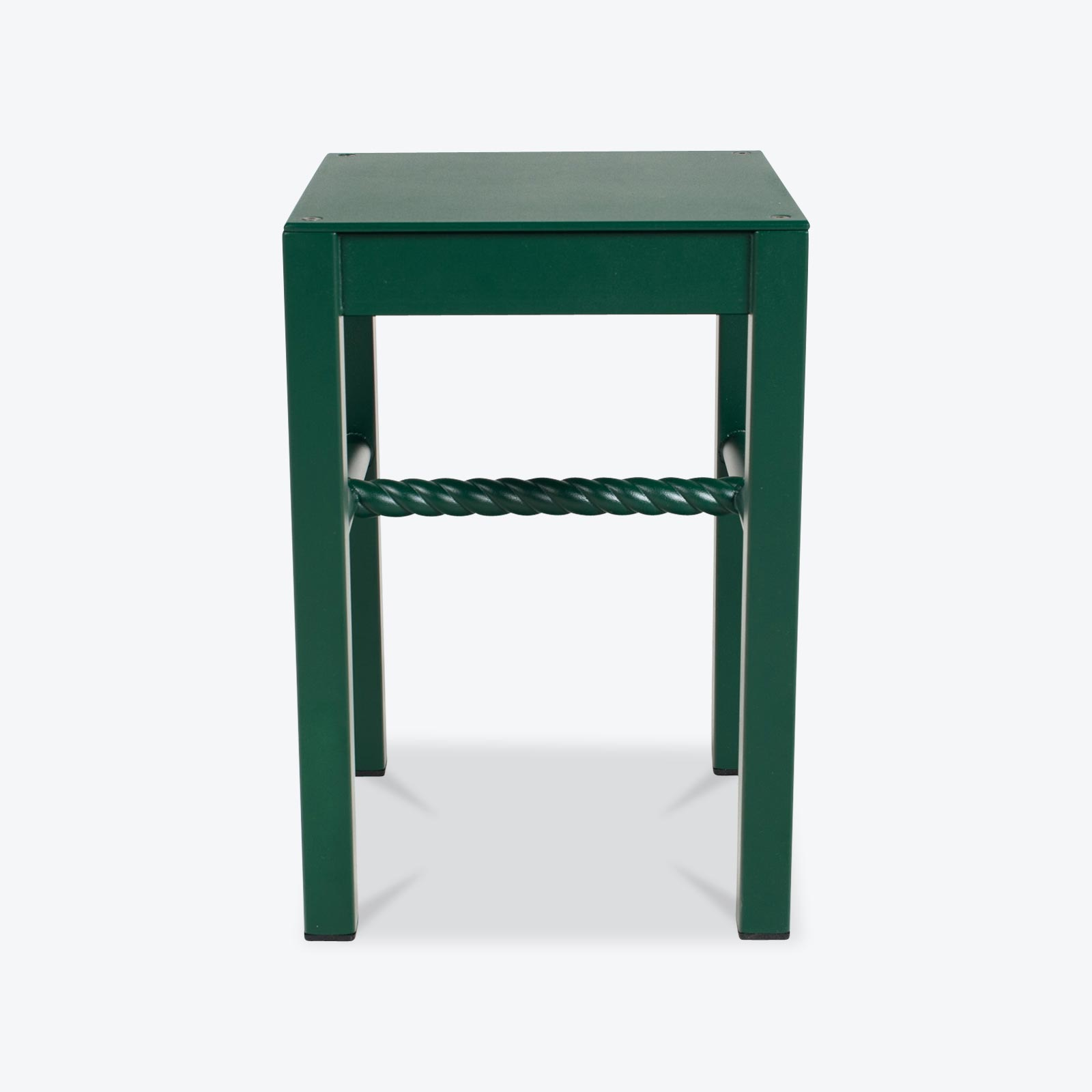 Chubby Stool In Heritage Green Powder Coated Steel And Aluminium By Steelotto.jpg