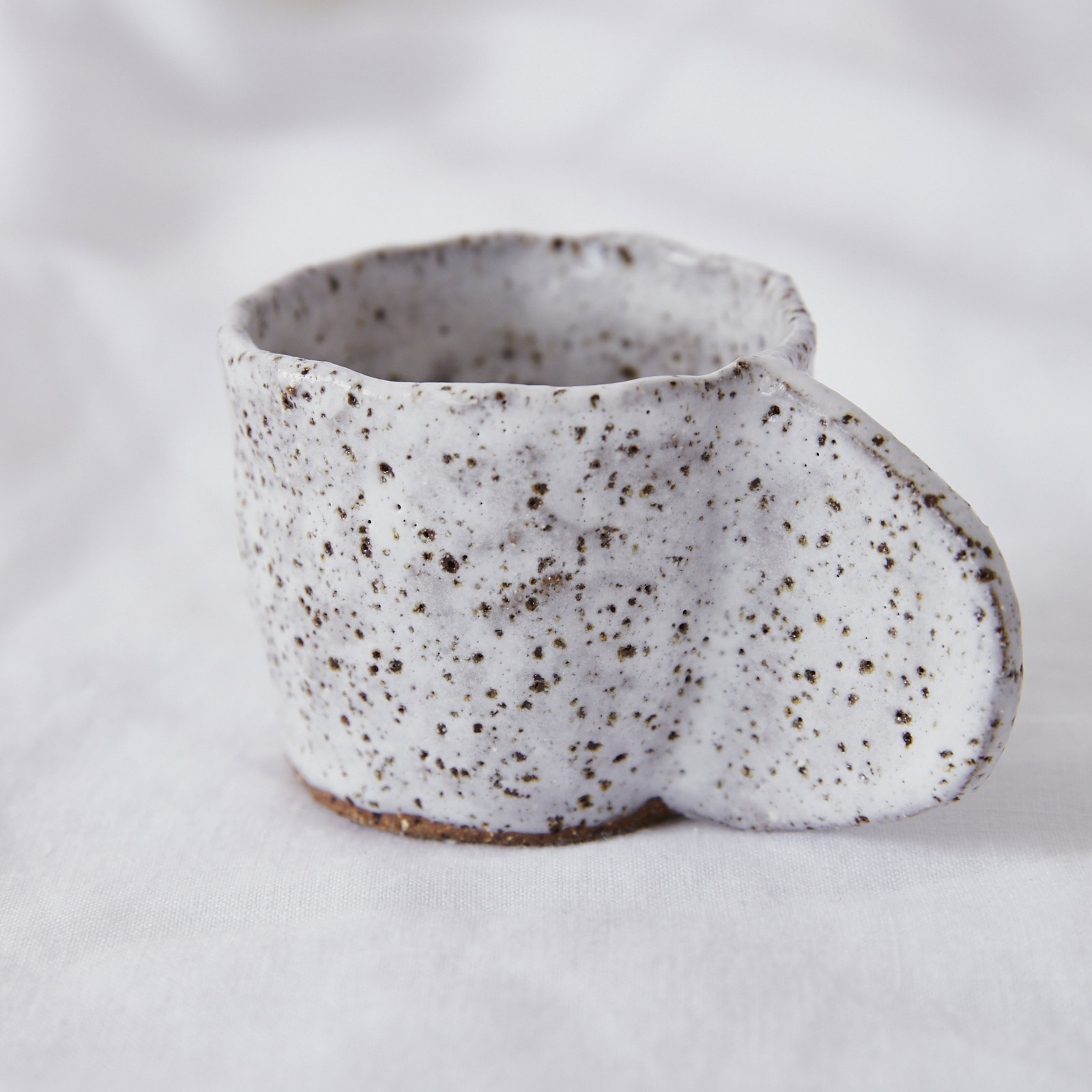 Crescent Espresso Mug In Speckled Stoneware By Gretel Corrie 02