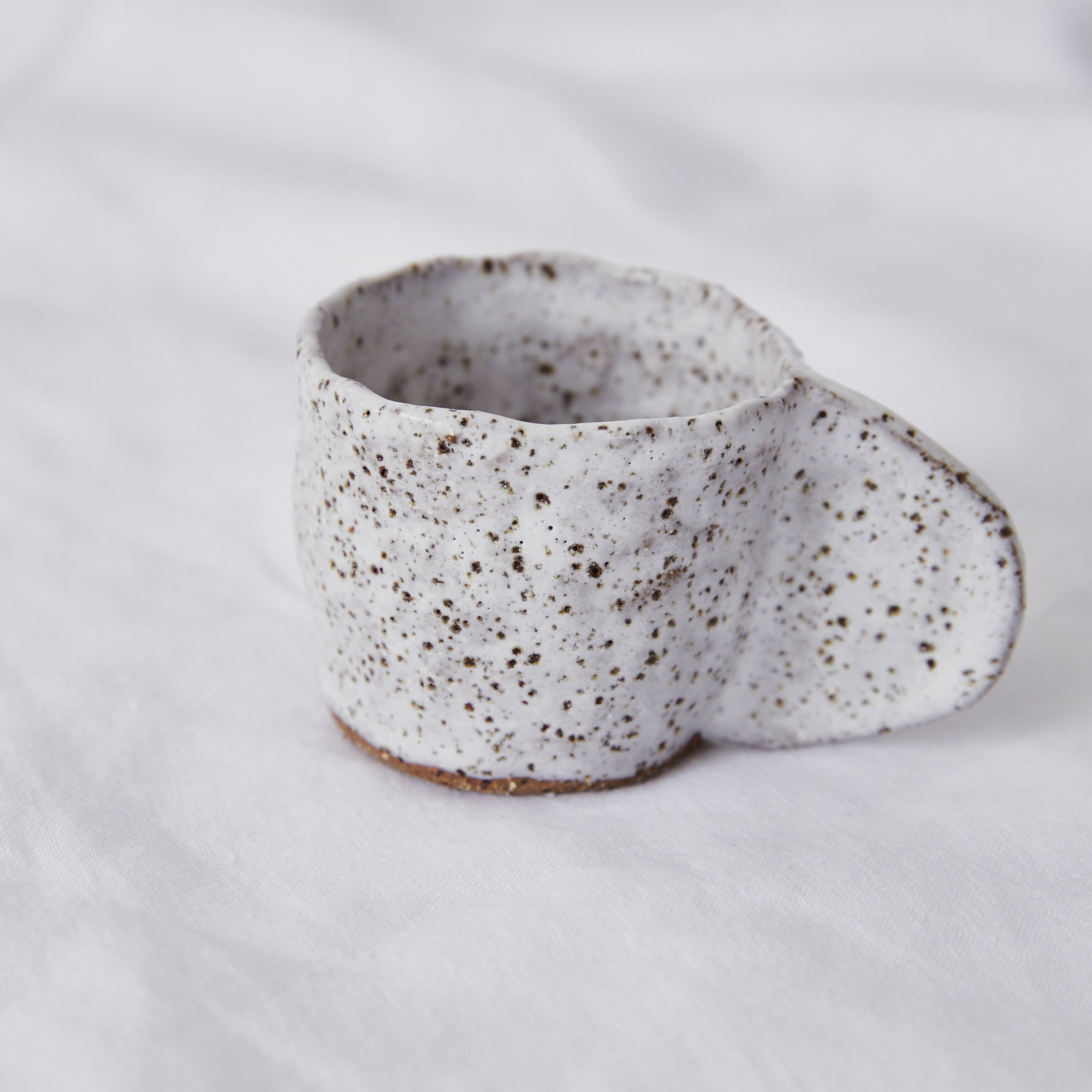 Crescent Espresso Mug In Speckled Stoneware By Gretel Corrie 03