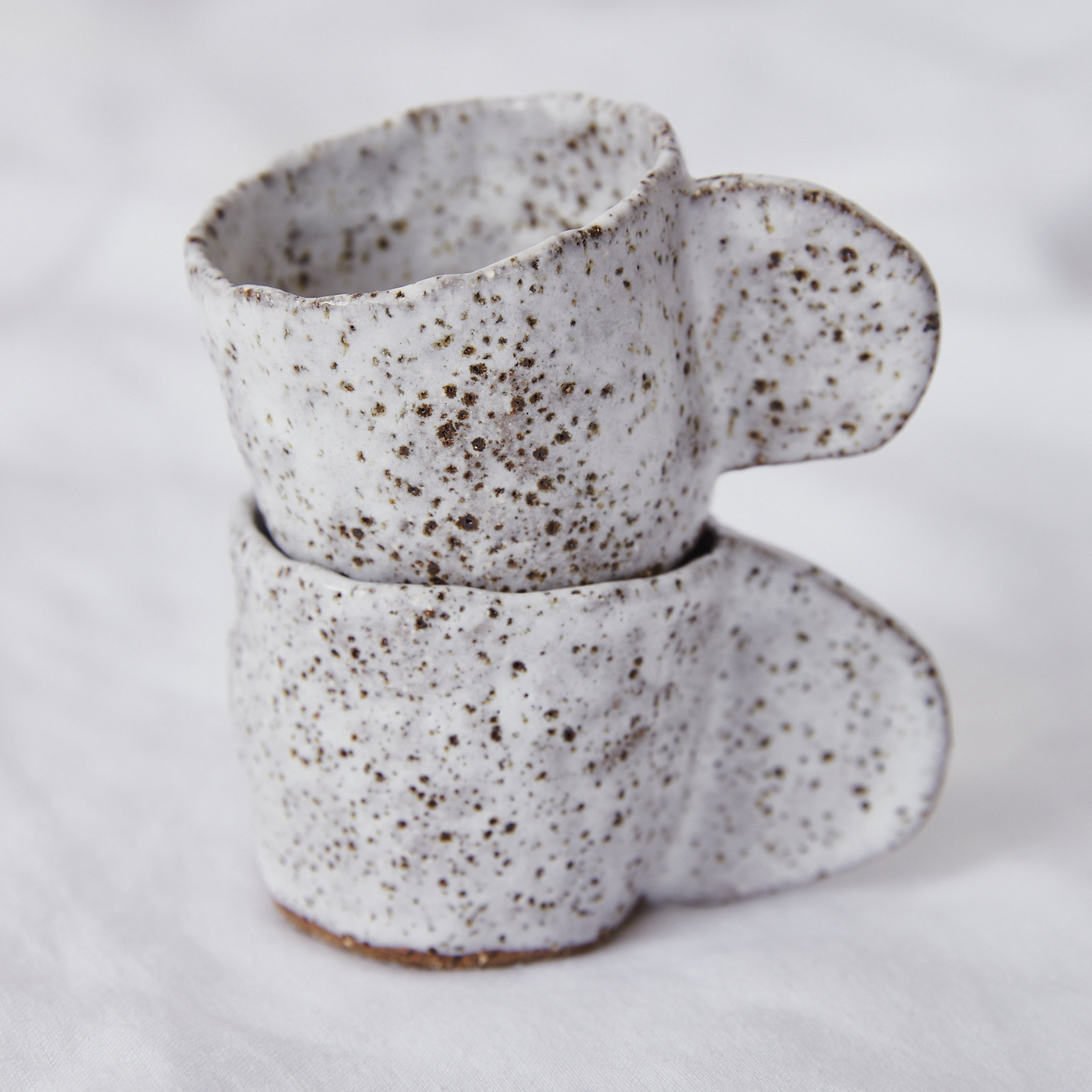 Crescent Espresso Mug In Speckled Stoneware By Gretel Corrie 04