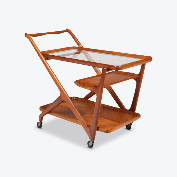 Drinks Cart By Cesare Lacca For Cassina In Cherrywood 1950s Italy Thumb.jpg