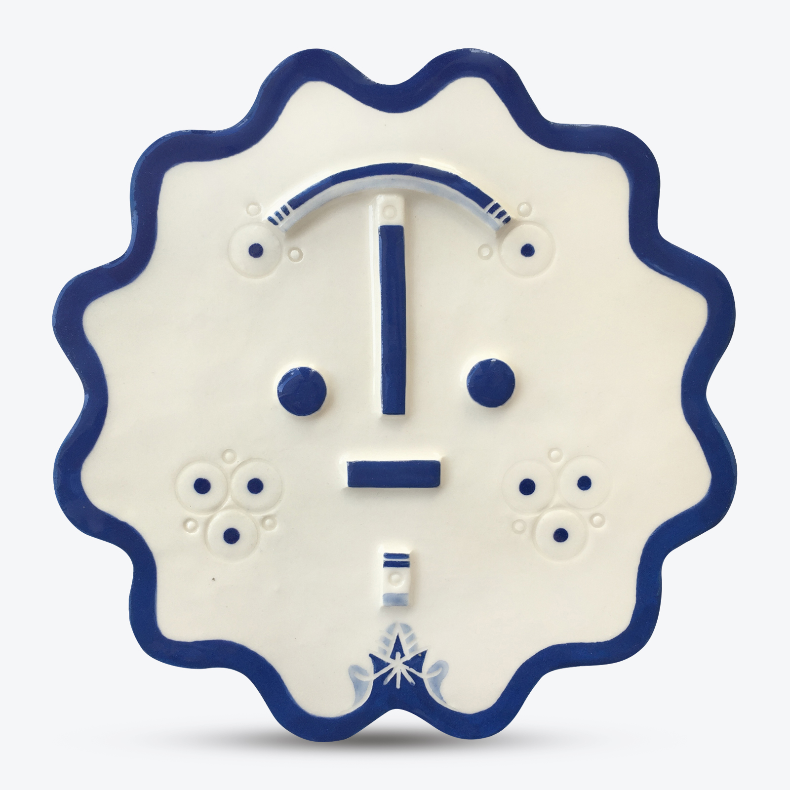 Missa Songsung Blue Ceramic Face Wall Hanging By Louise Kyriakou 00.jpg