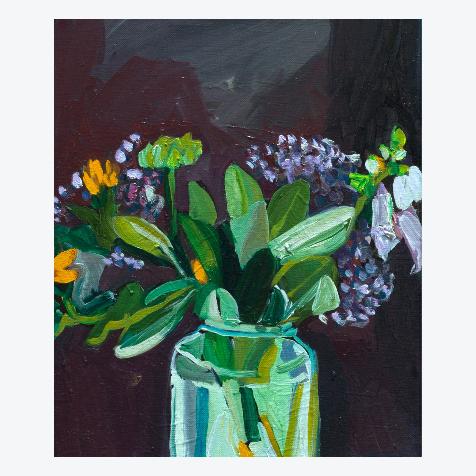 Preserving Jar Of Garden Pickings Original Painting By Elizabeth Barnett.jpg